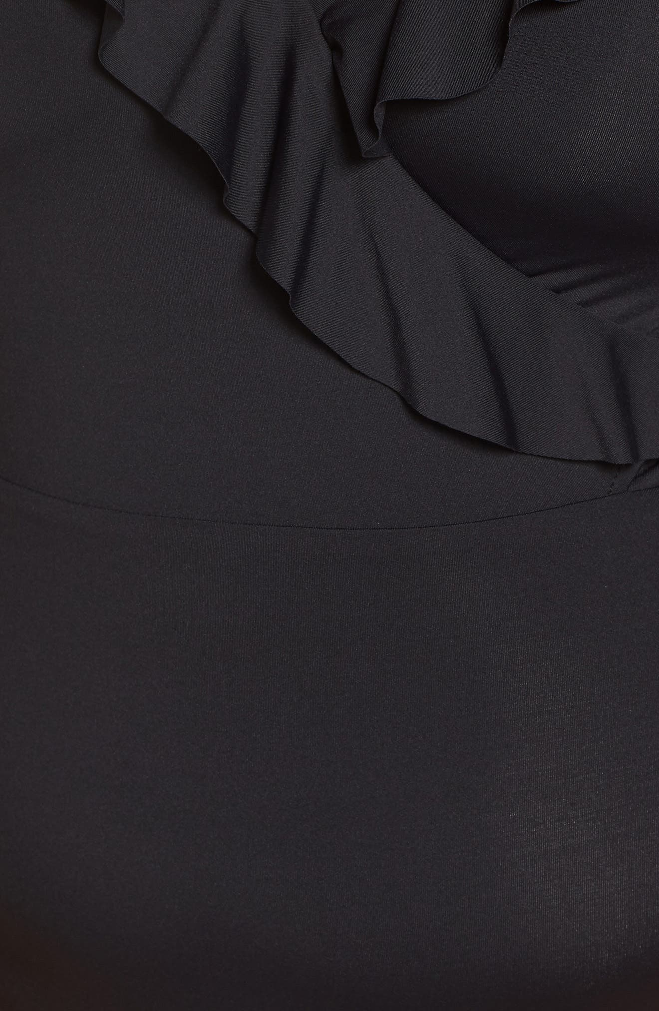 BECCA ETC., Color Code One-Piece Swimsuit, Alternate thumbnail 6, color, BLACK