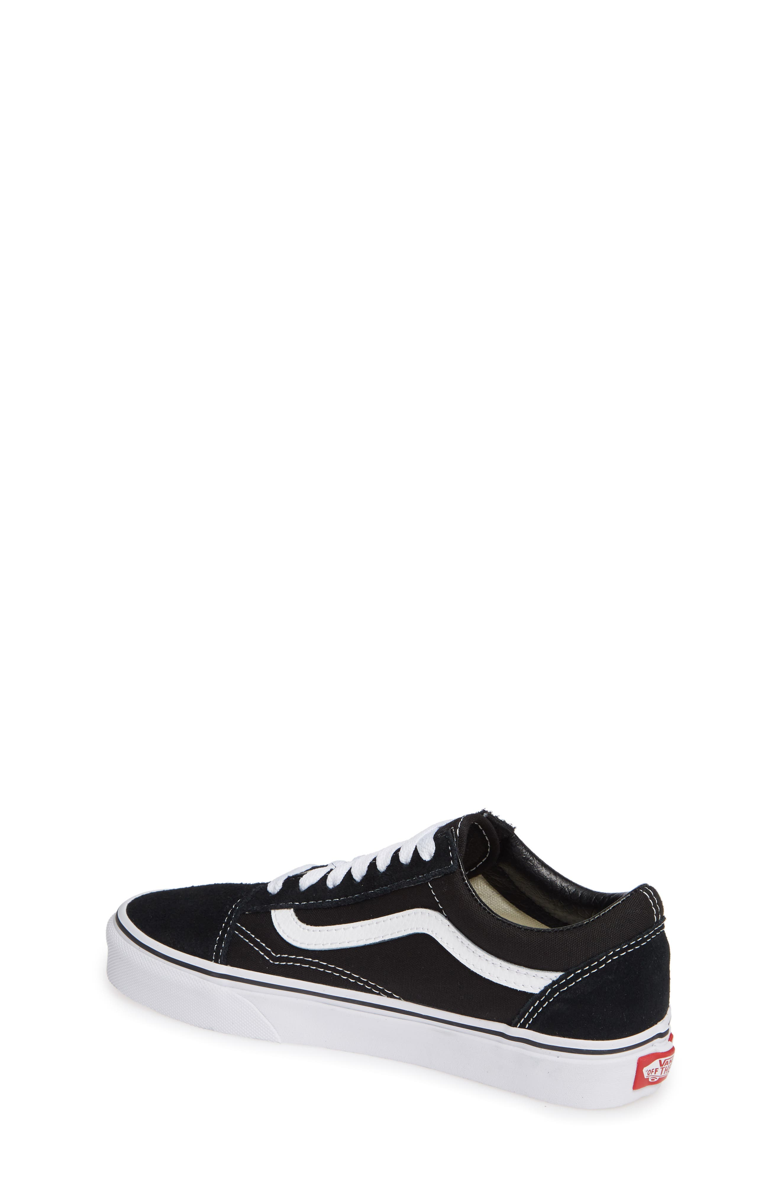 VANS, 'Old Skool' Skate Sneaker, Alternate thumbnail 2, color, BLACK/ WHITE SUEDE CANVAS