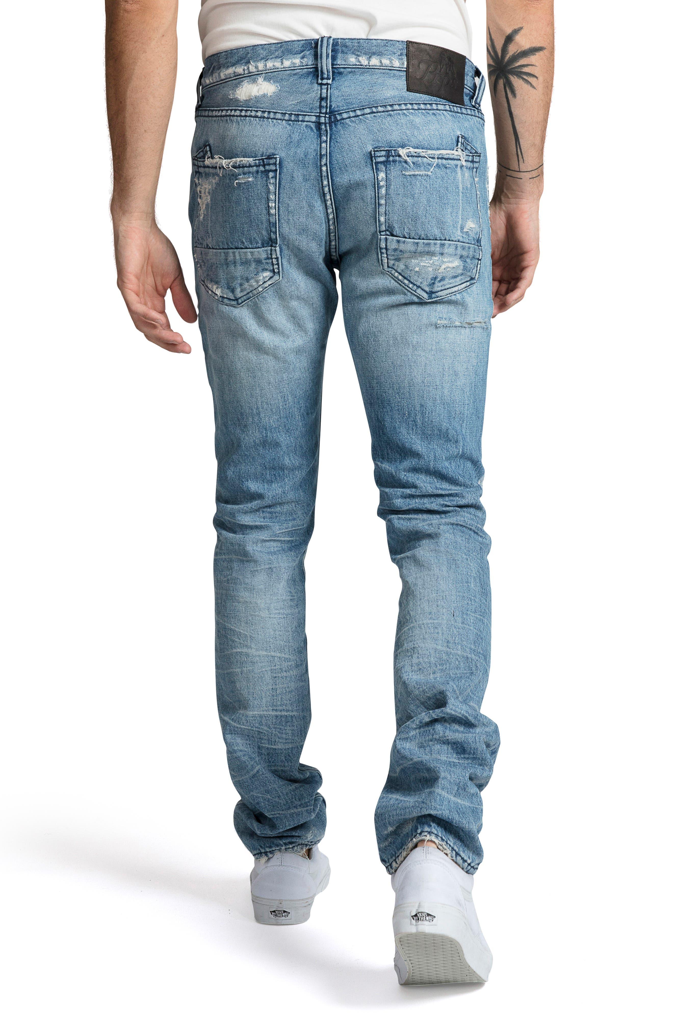 PRPS, Le Sabre Slim Fit Jeans, Alternate thumbnail 2, color, BLUE