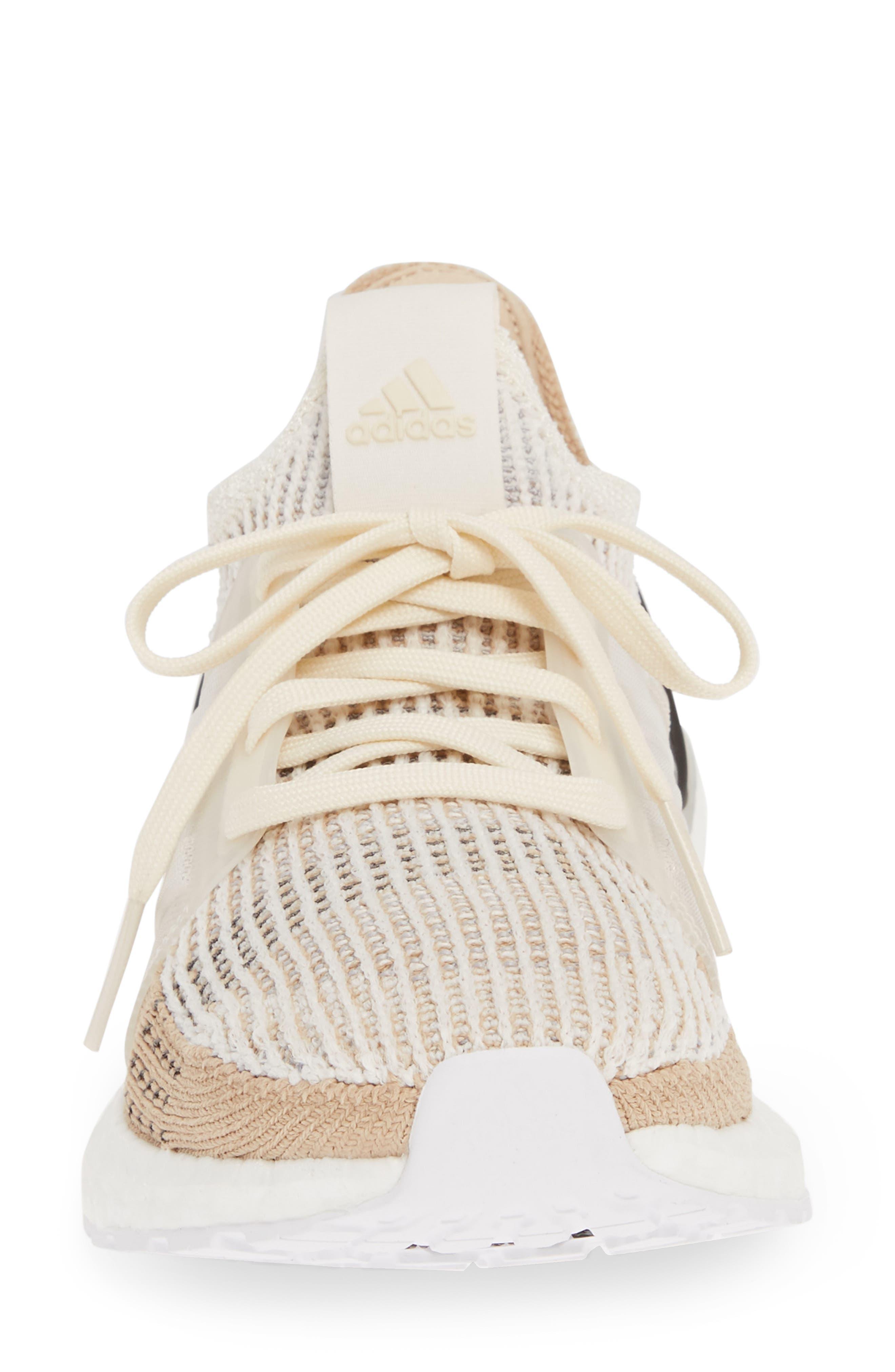 ADIDAS, UltraBoost 19 Running Shoe, Alternate thumbnail 4, color, CHALK WHITE/ PALE NUDE/ BLACK