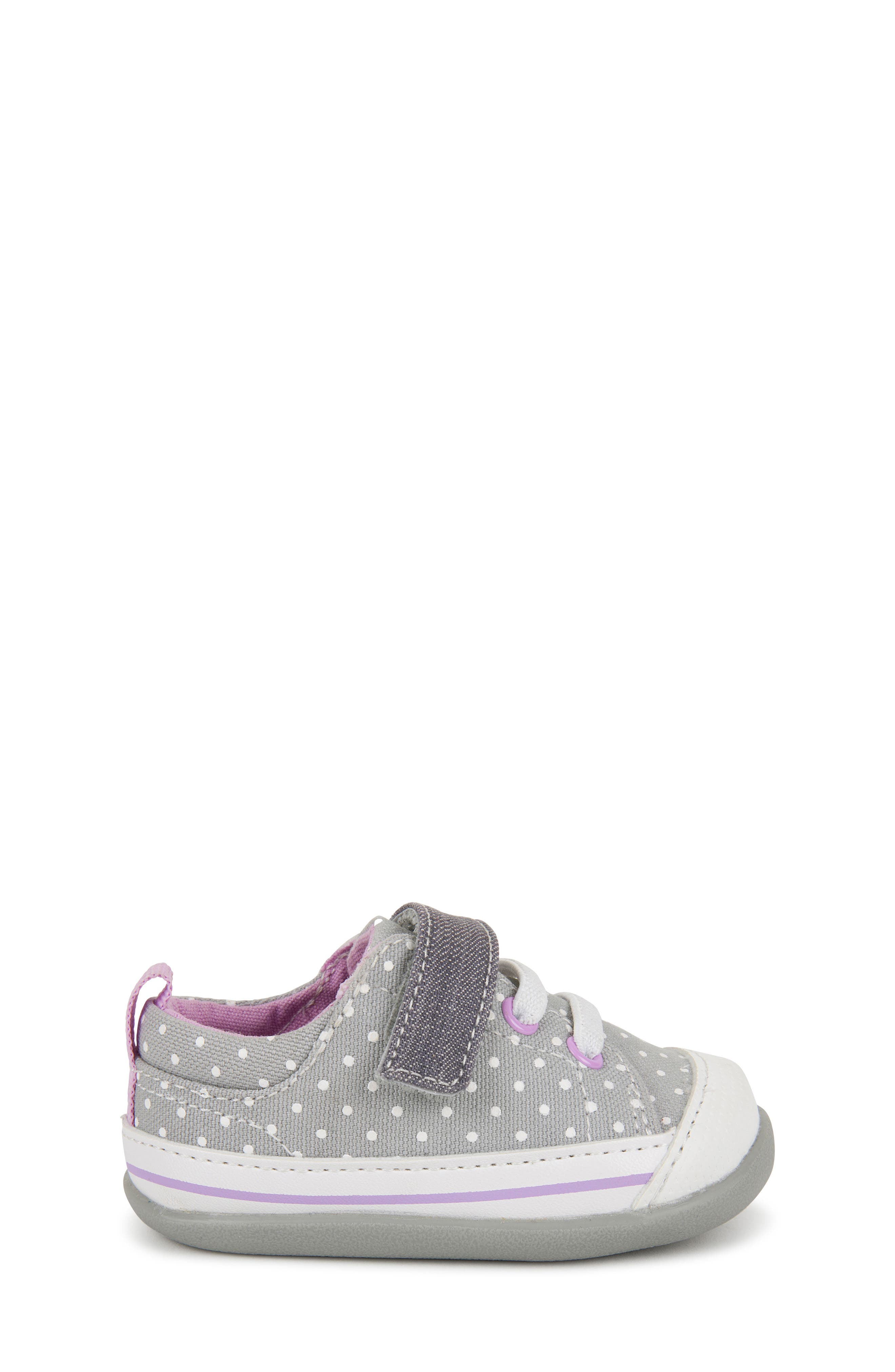 SEE KAI RUN, Stevie II Sneaker, Alternate thumbnail 3, color, GREY DOTS