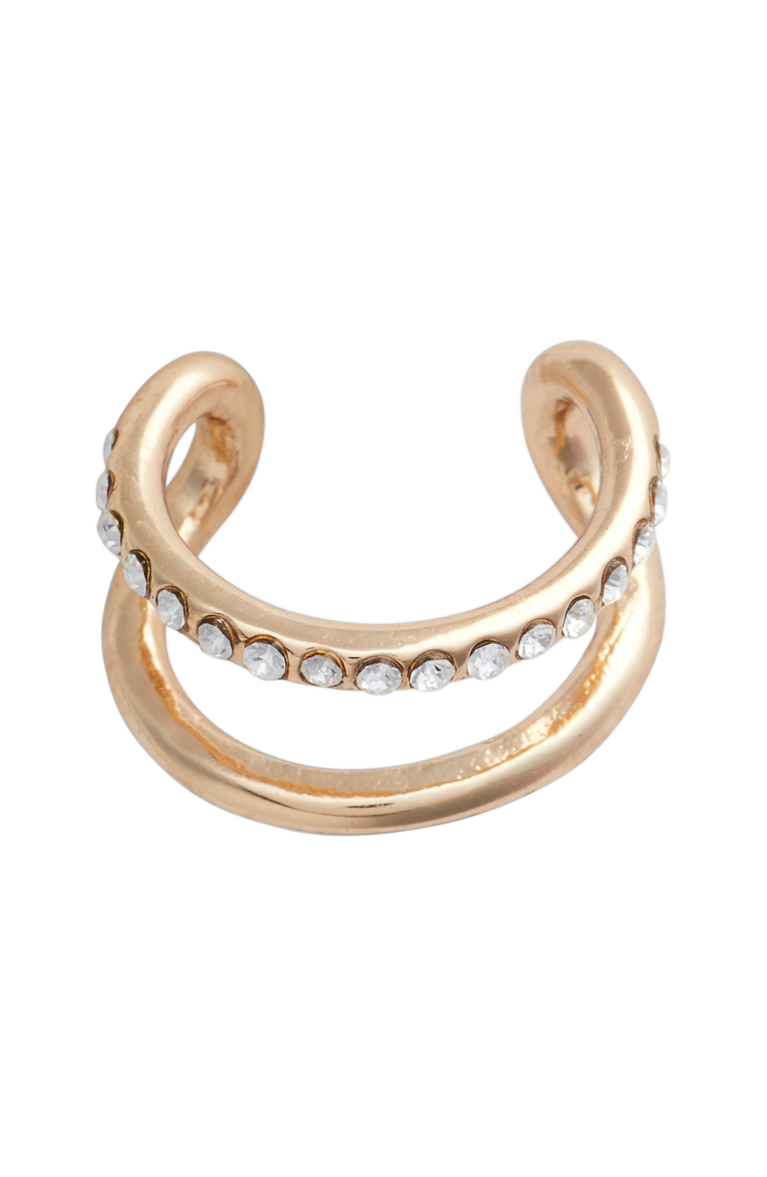 UNCOMMON JAMES BY KRISTIN CAVALLARI, Killer Queen Ear Cuff, Main thumbnail 1, color, GOLD