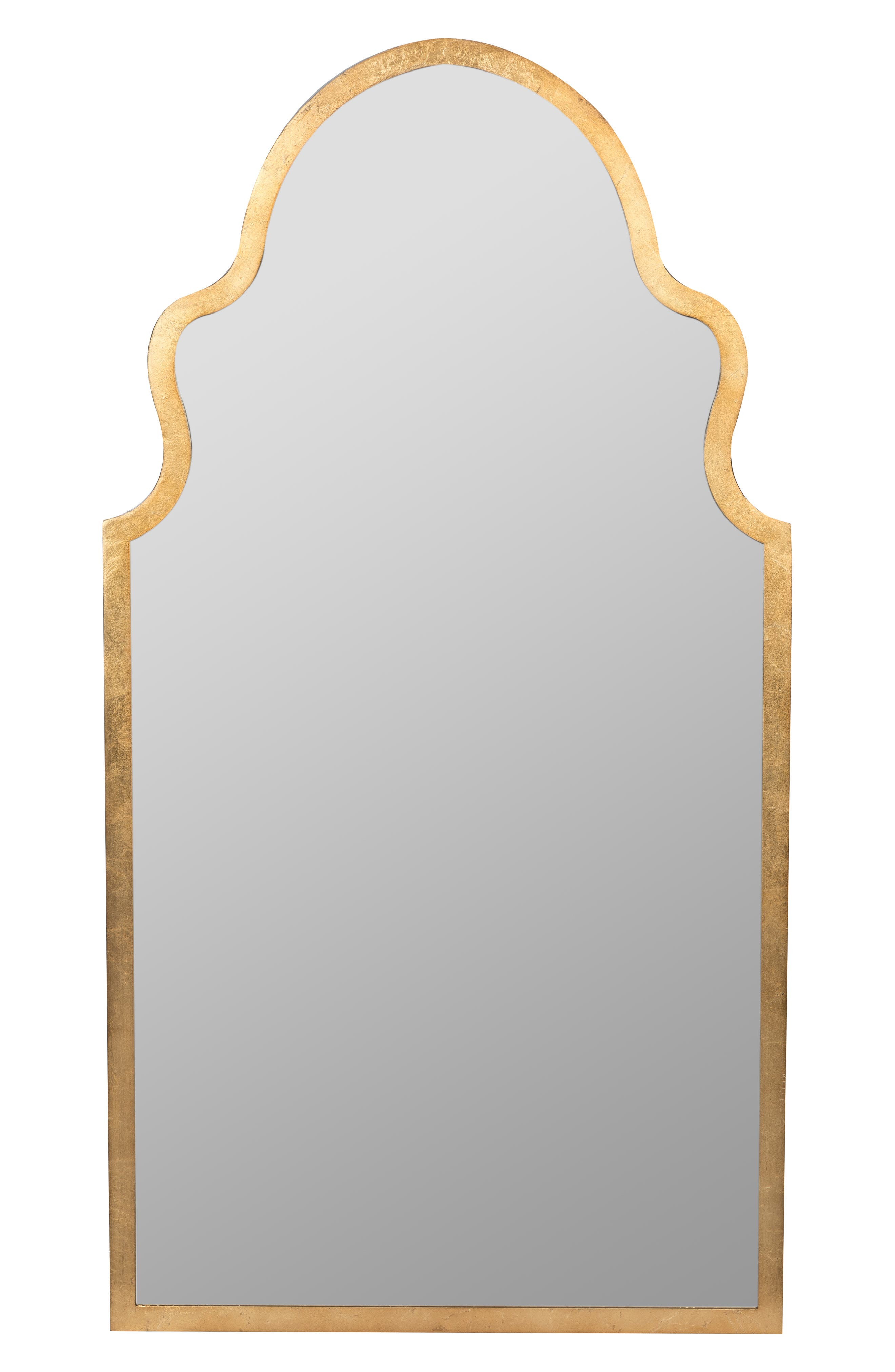 GEORGE AND CO, Scalloped Wall Mirror, Main thumbnail 1, color, METALLIC GOLD