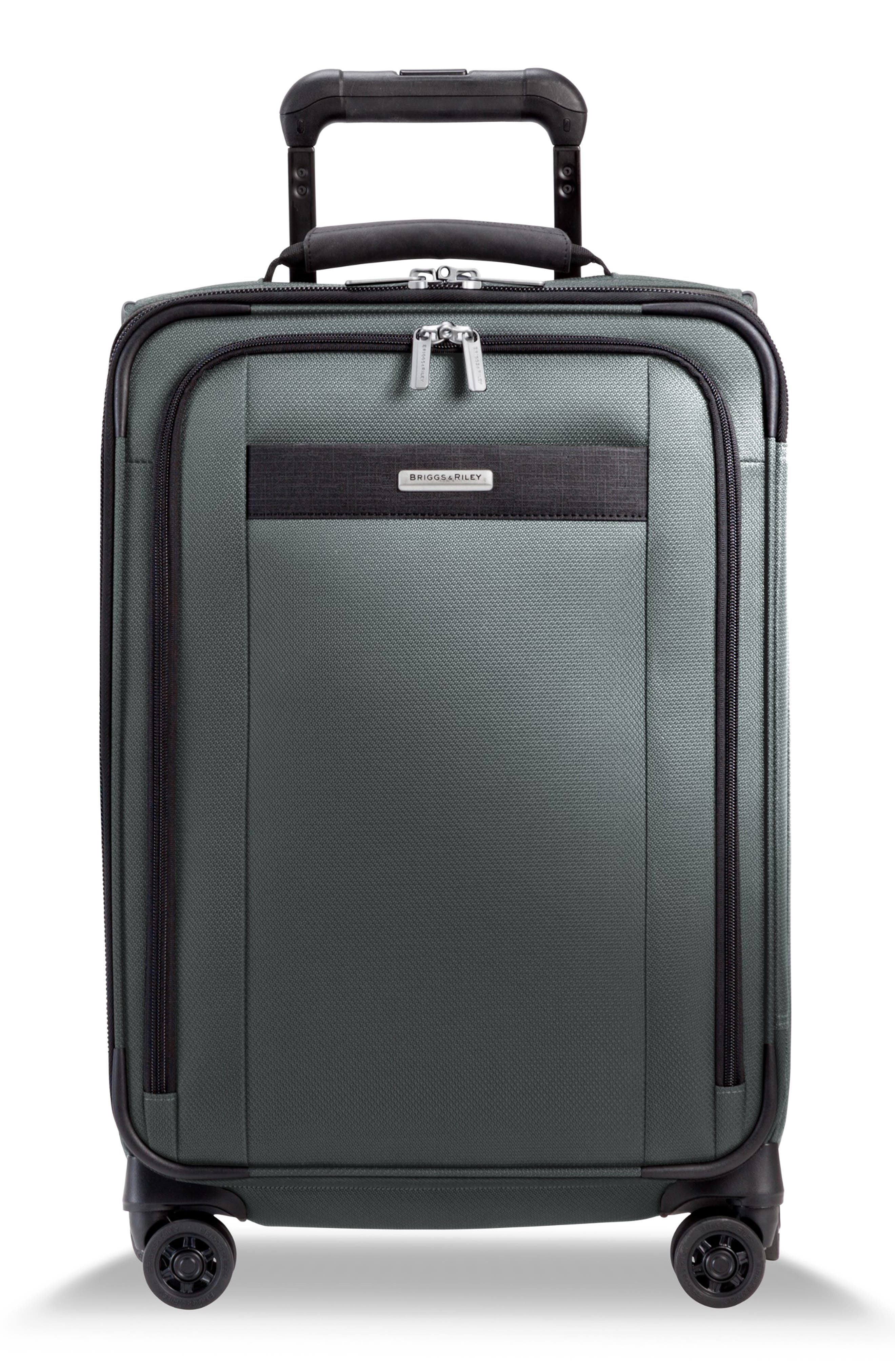 BRIGGS & RILEY, Transcend Tall Expandable Wheeled Suitcase, Main thumbnail 1, color, SLATE GREY