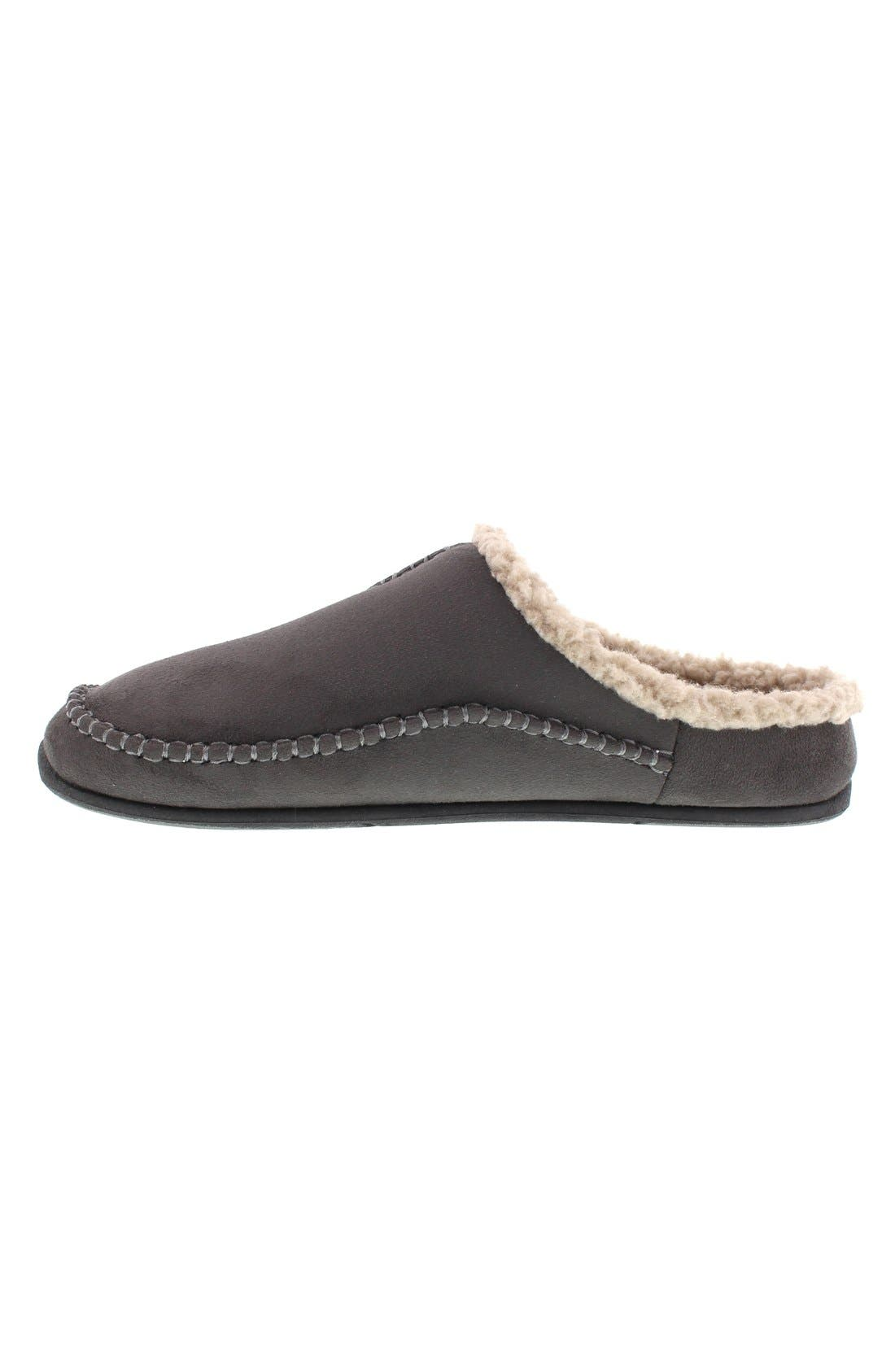DEER STAGS, 'Nordic' Slipper, Alternate thumbnail 2, color, DARK GREY