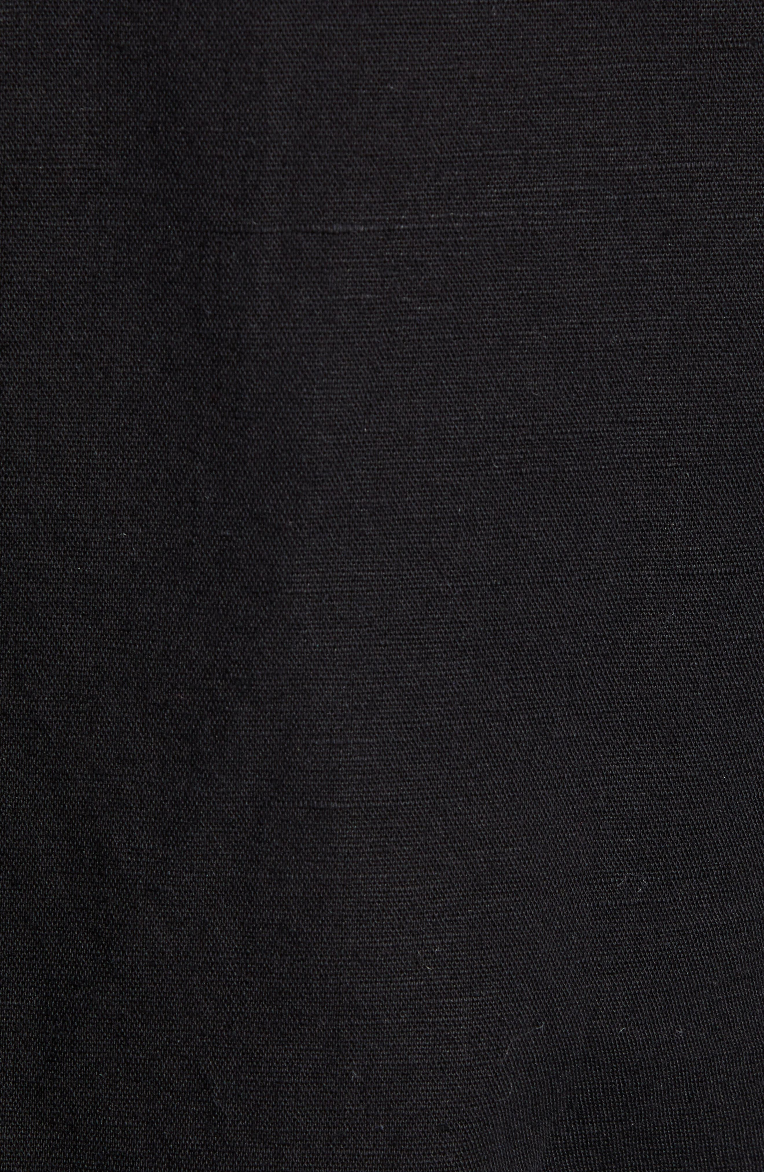 CASLON<SUP>®</SUP>, Long Sleeve Top, Alternate thumbnail 6, color, BLACK