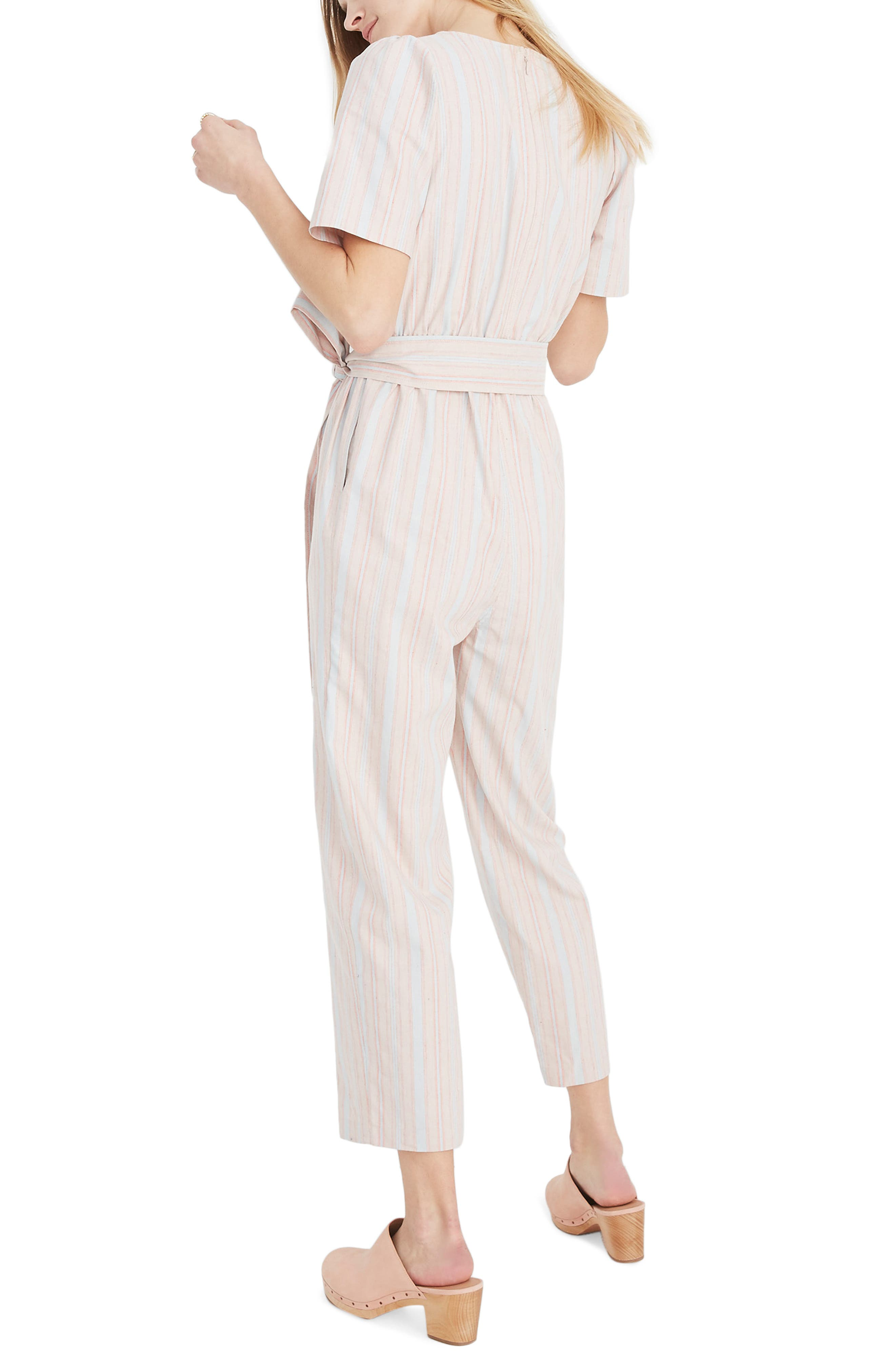 MADEWELL, Puff Sleeve Tapered Jumpsuit, Alternate thumbnail 2, color, 400