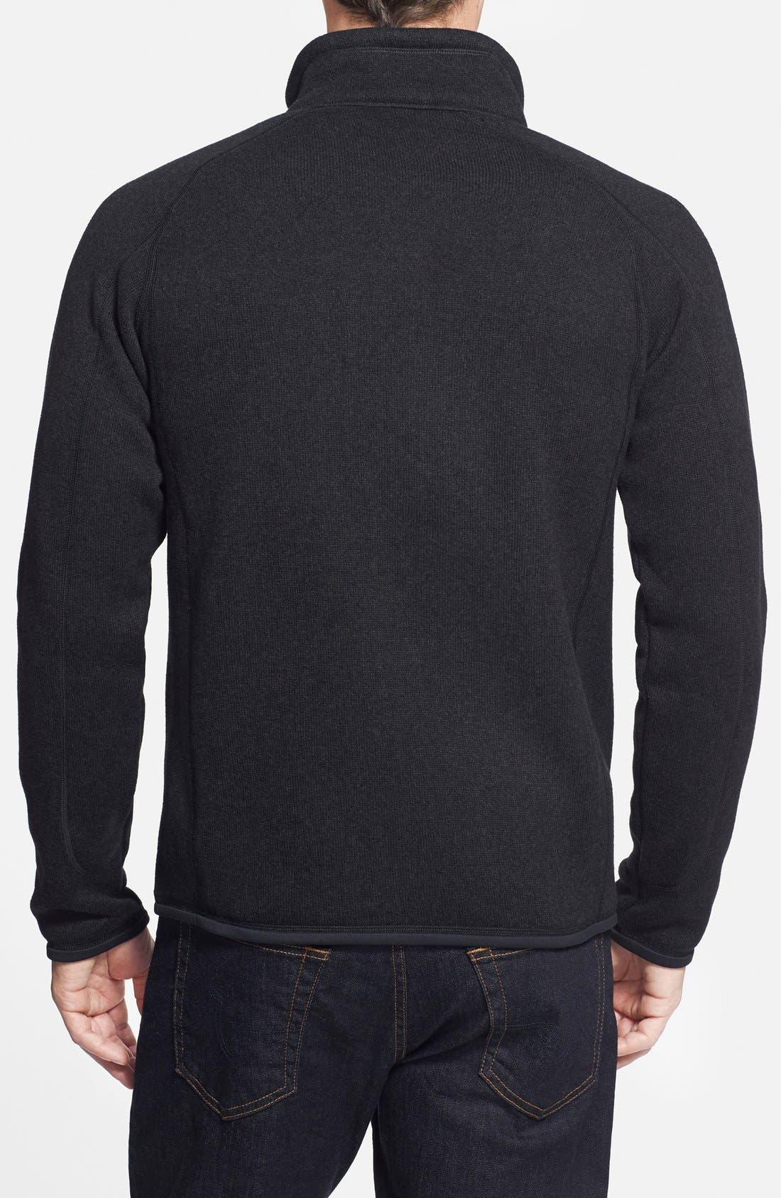 PATAGONIA, Better Sweater Zip Front Jacket, Alternate thumbnail 9, color, BLACK