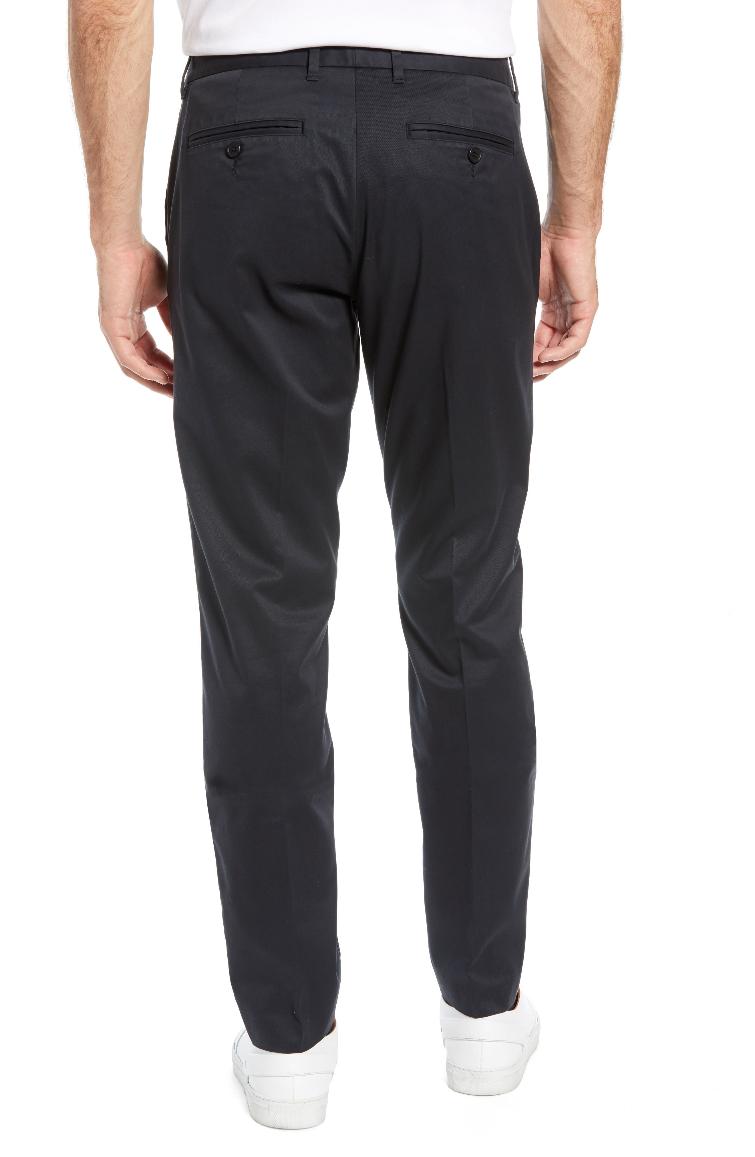 BONOBOS, Weekday Warrior Athletic Fit Stretch Dress Pants, Alternate thumbnail 2, color, TUESDAY BLACK