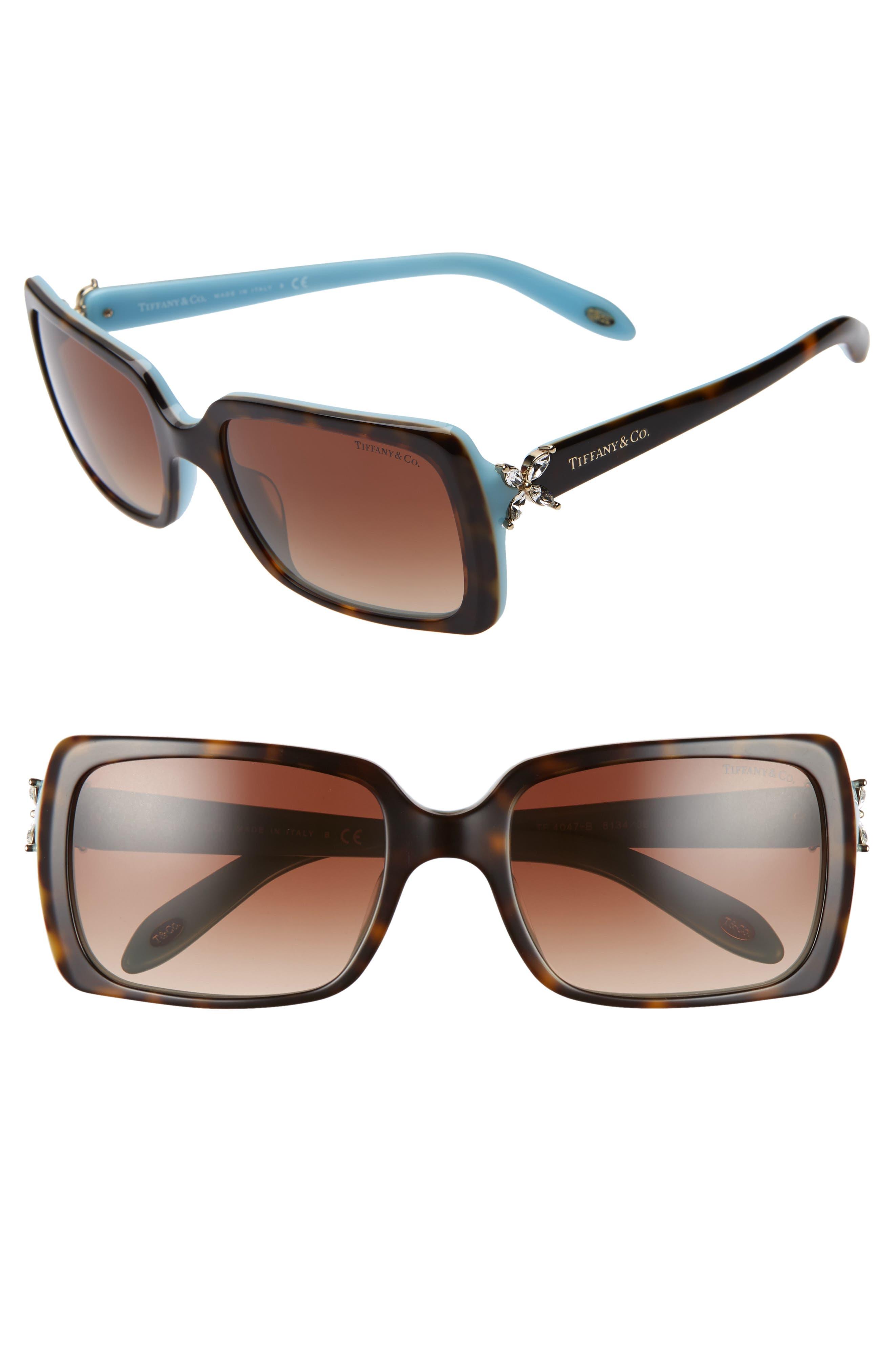 35d1478cdfb Women s Tiffany   Co. 55Mm Square Sunglasses - Top Havana  Blue brn Grad