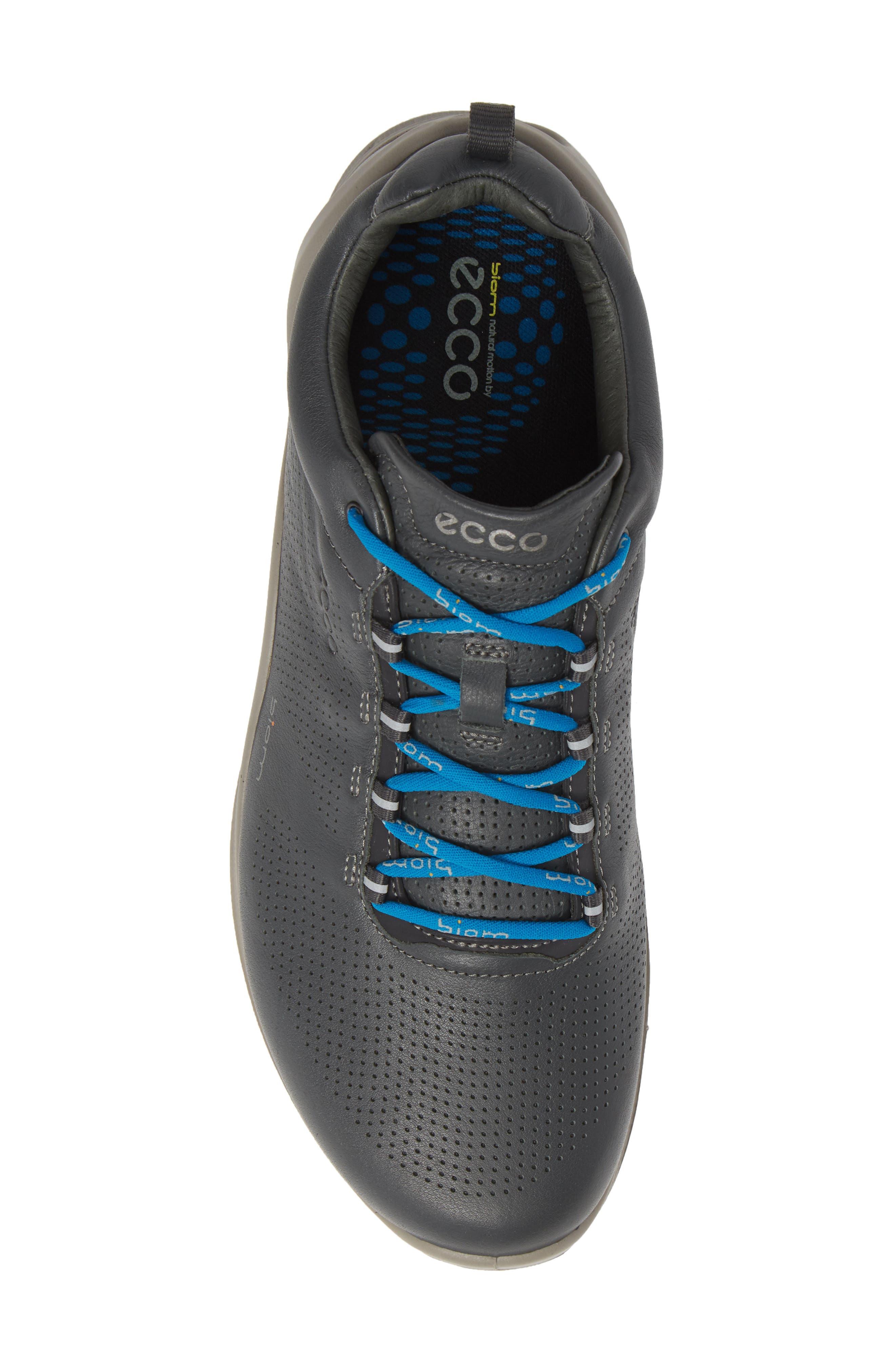 ECCO, 'BIOM Fjuel' Sneaker, Alternate thumbnail 5, color, DARK SHADOW LEATHER