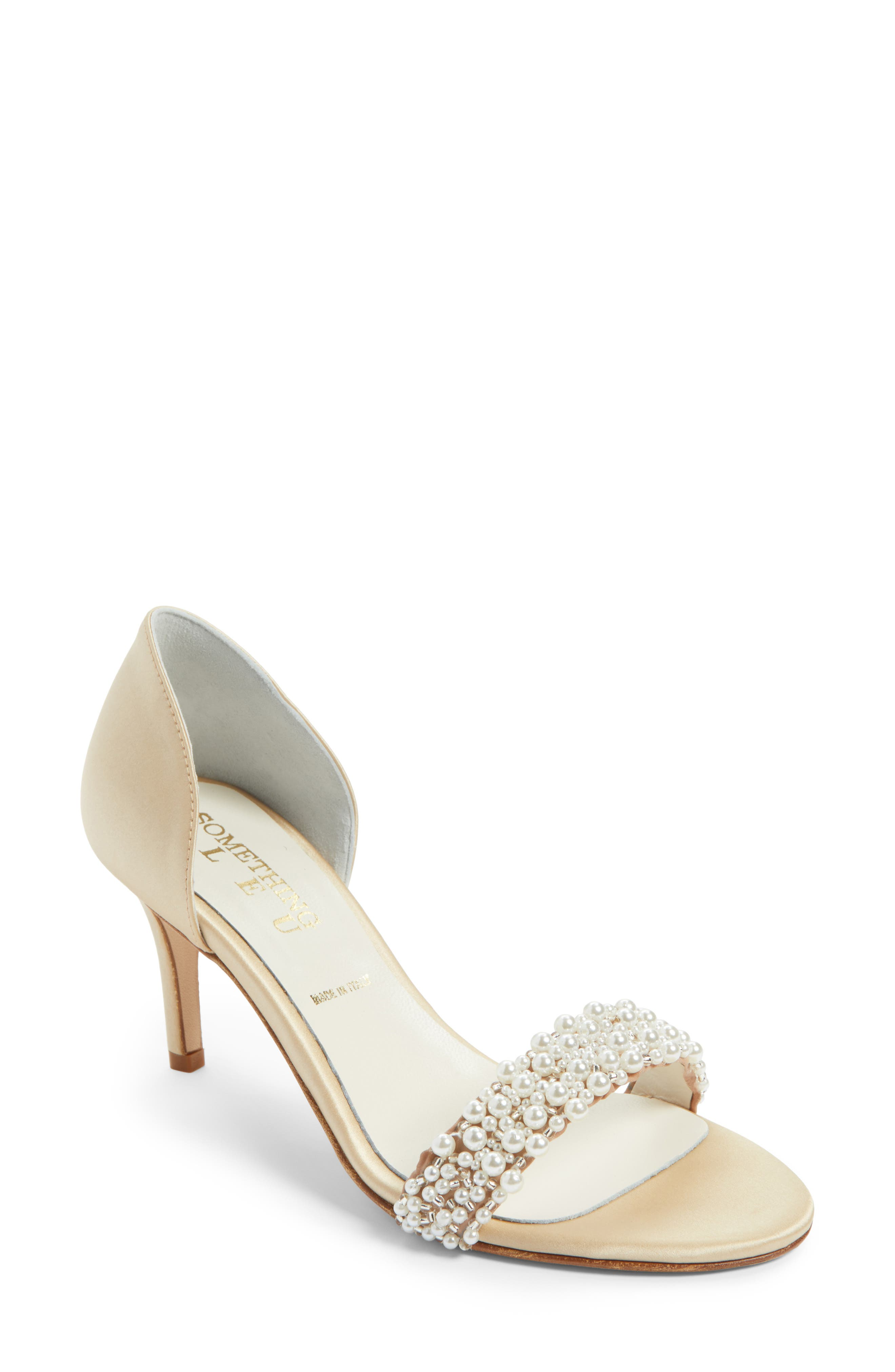 SOMETHING BLEU Cappy d'Orsay Sandal, Main, color, NUDE SATIN