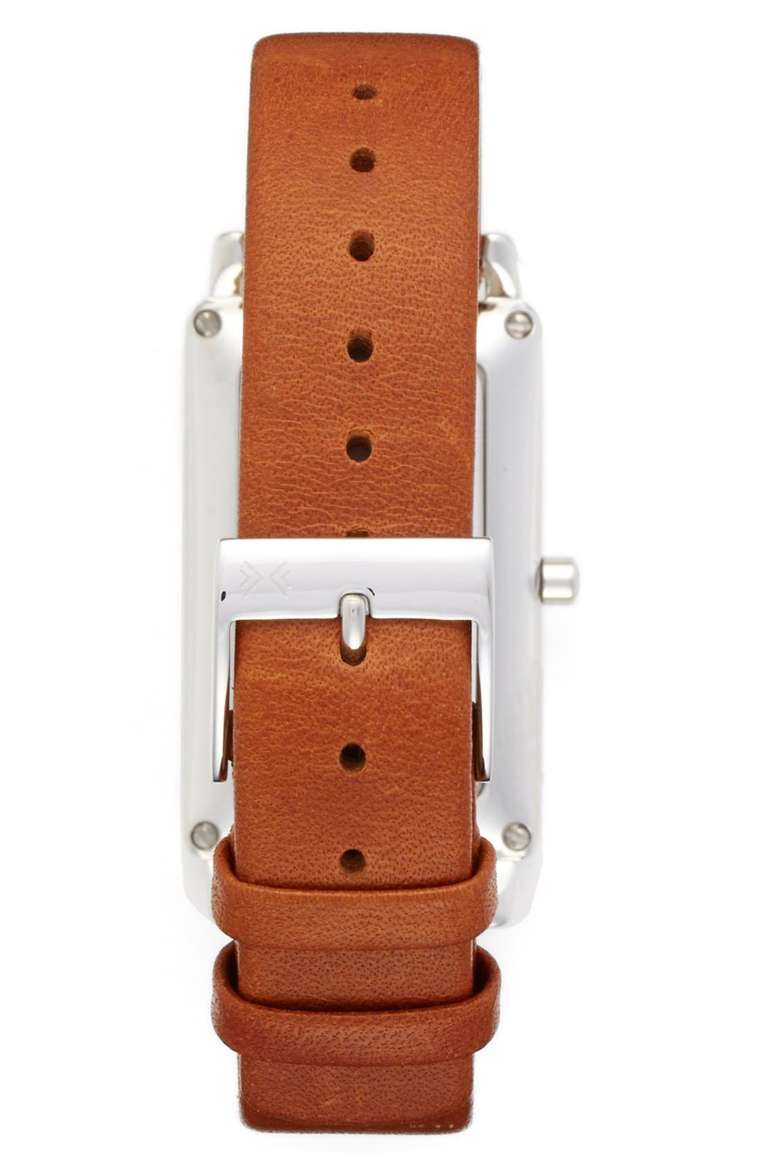 SKAGEN, 'Hagen' Leather Strap Watch, 22mm x 43mm, Alternate thumbnail 2, color, 200