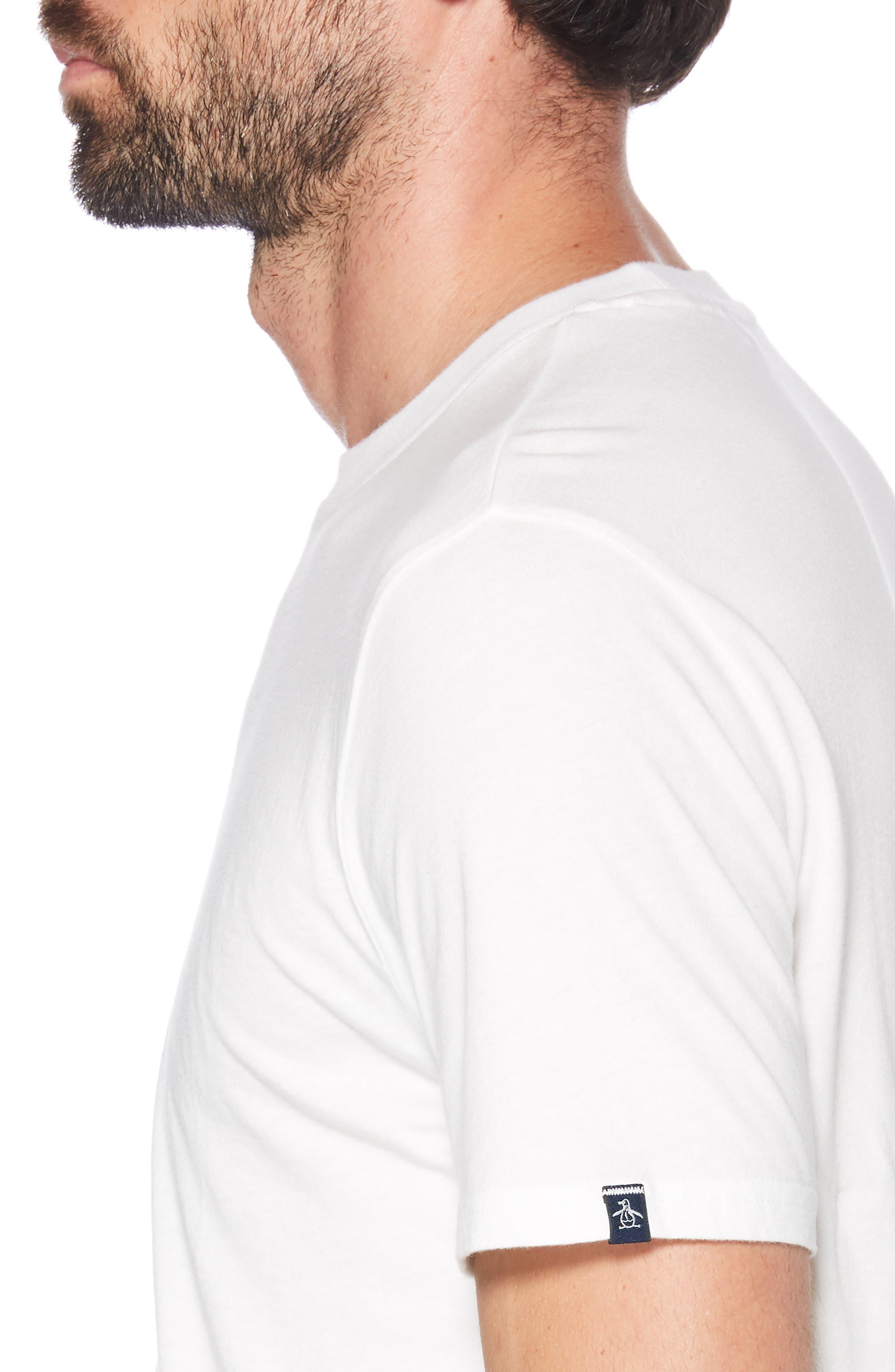 ORIGINAL PENGUIN, You Crack Me Up T-Shirt, Alternate thumbnail 3, color, BRIGHT WHITE