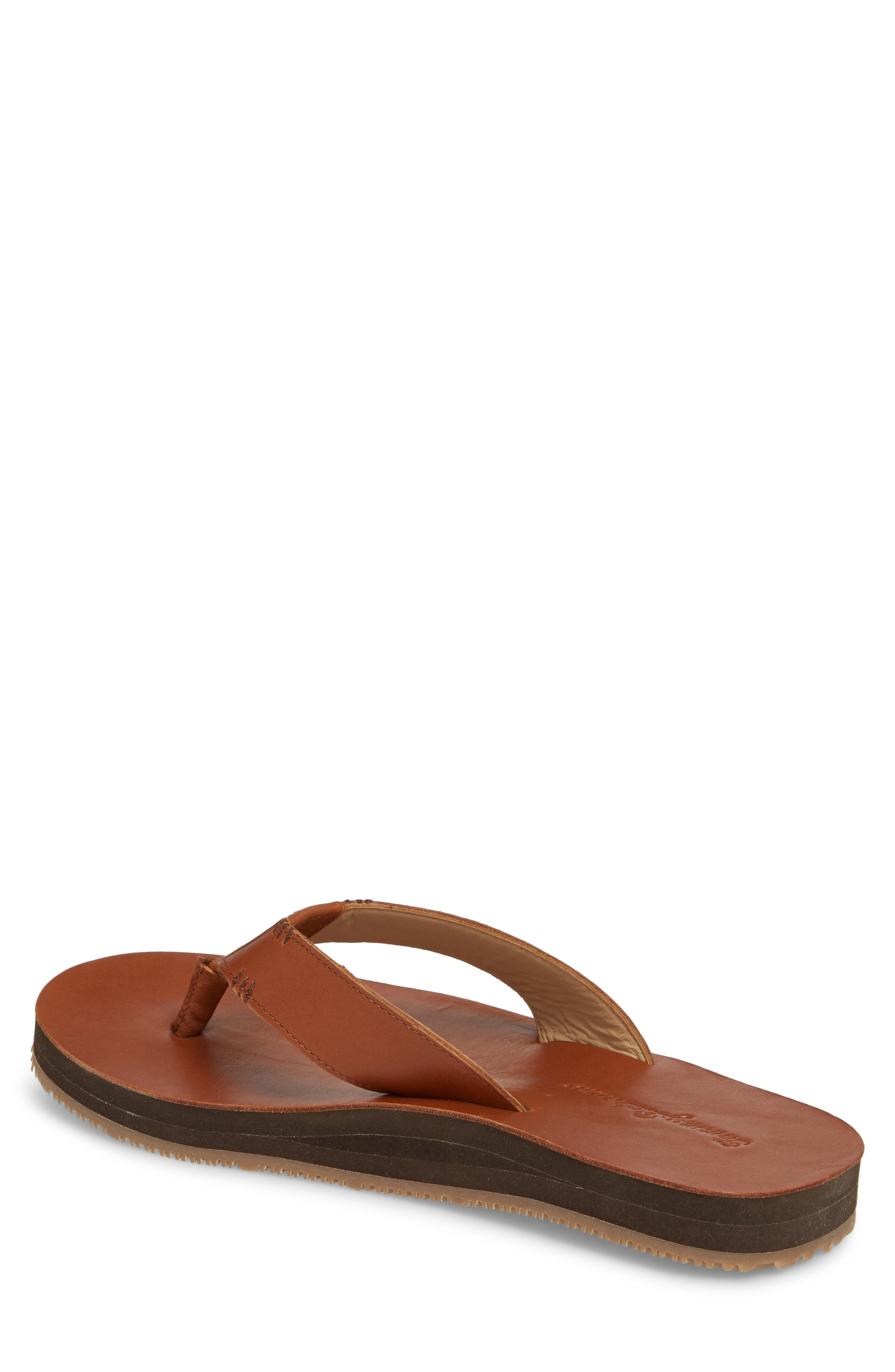 TOMMY BAHAMA, Adderly Flip Flop, Alternate thumbnail 2, color, TAN LEATHER