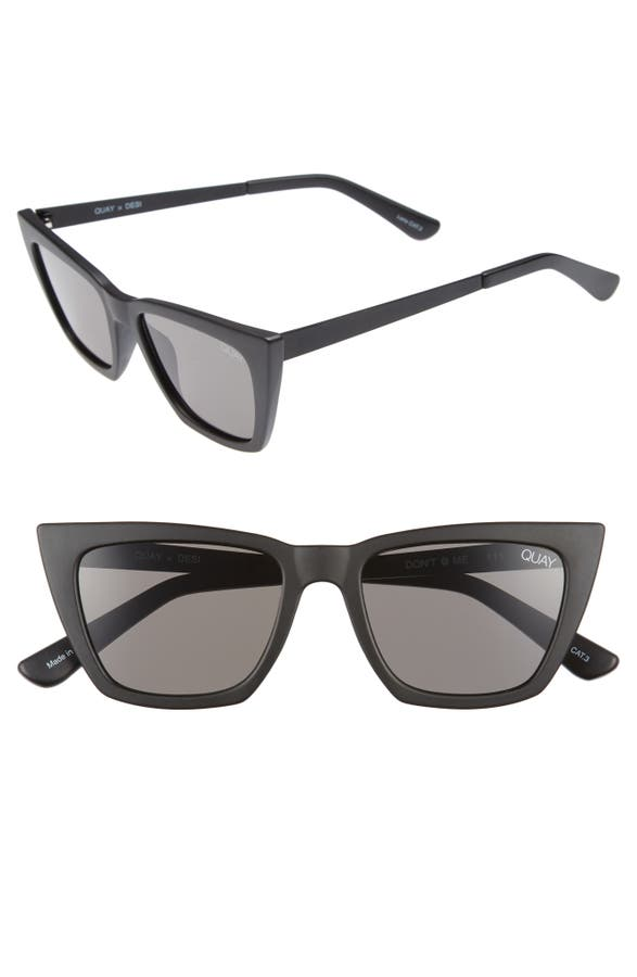 43ad031a191 Quay Australia x Desi Perkins Don t   Me 48mm Cat Eye Sunglasses ...