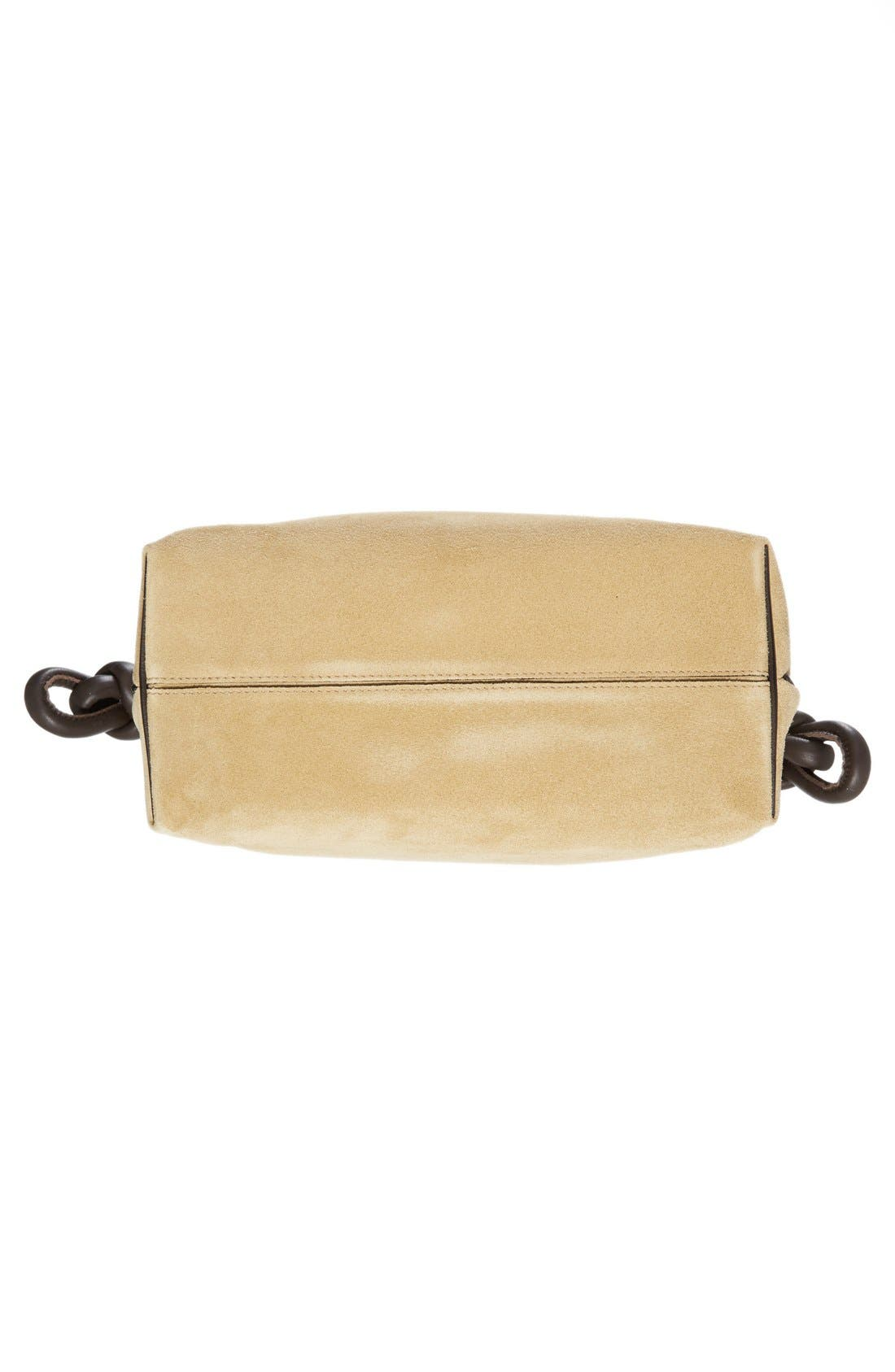 LOEWE, 'Flamenco Knot' Suede & Calfskin Leather Bag, Alternate thumbnail 6, color, 250