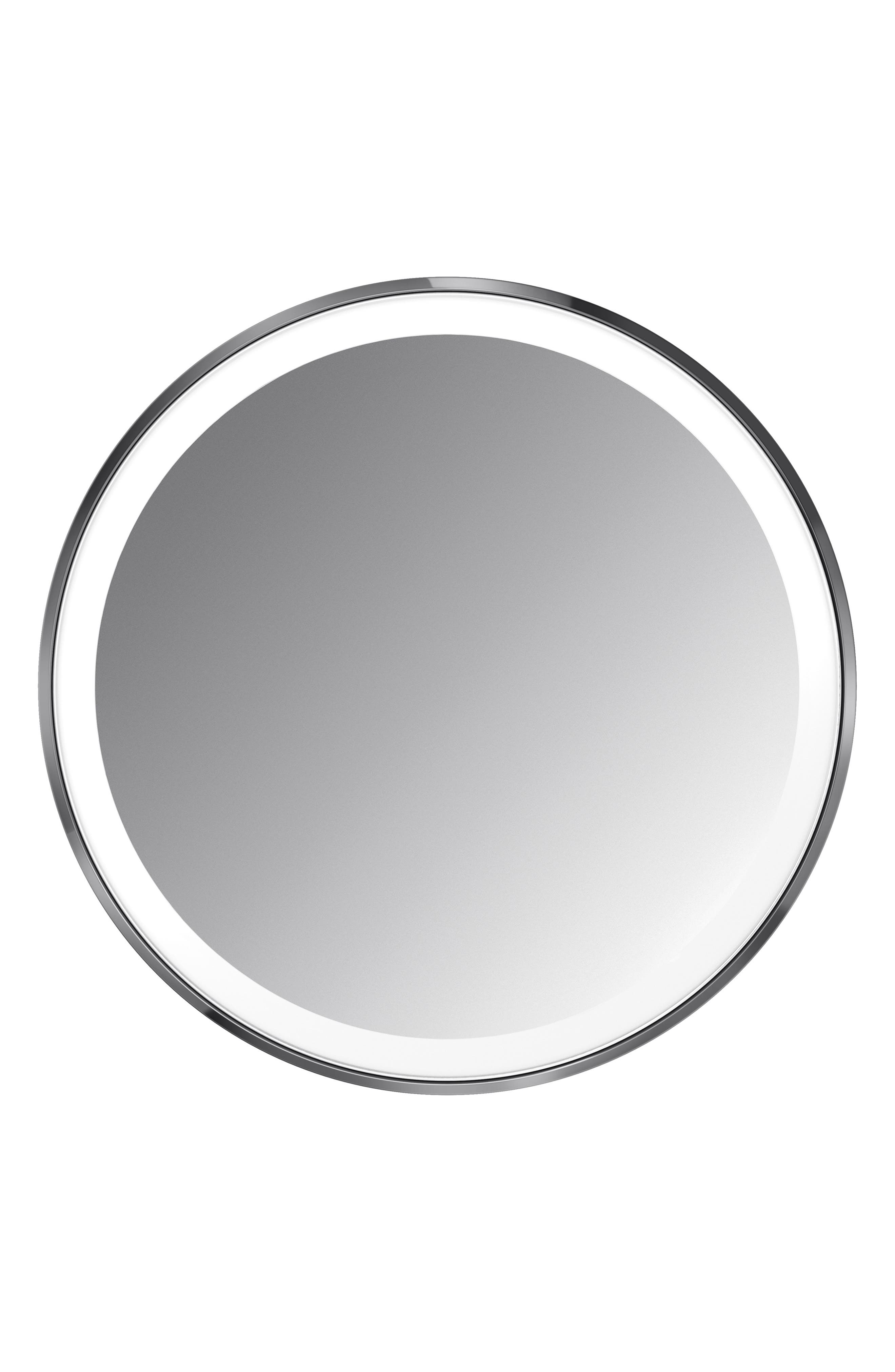 SIMPLEHUMAN, 4-Inch Sensor Mirror Compact, Main thumbnail 1, color, BLACK