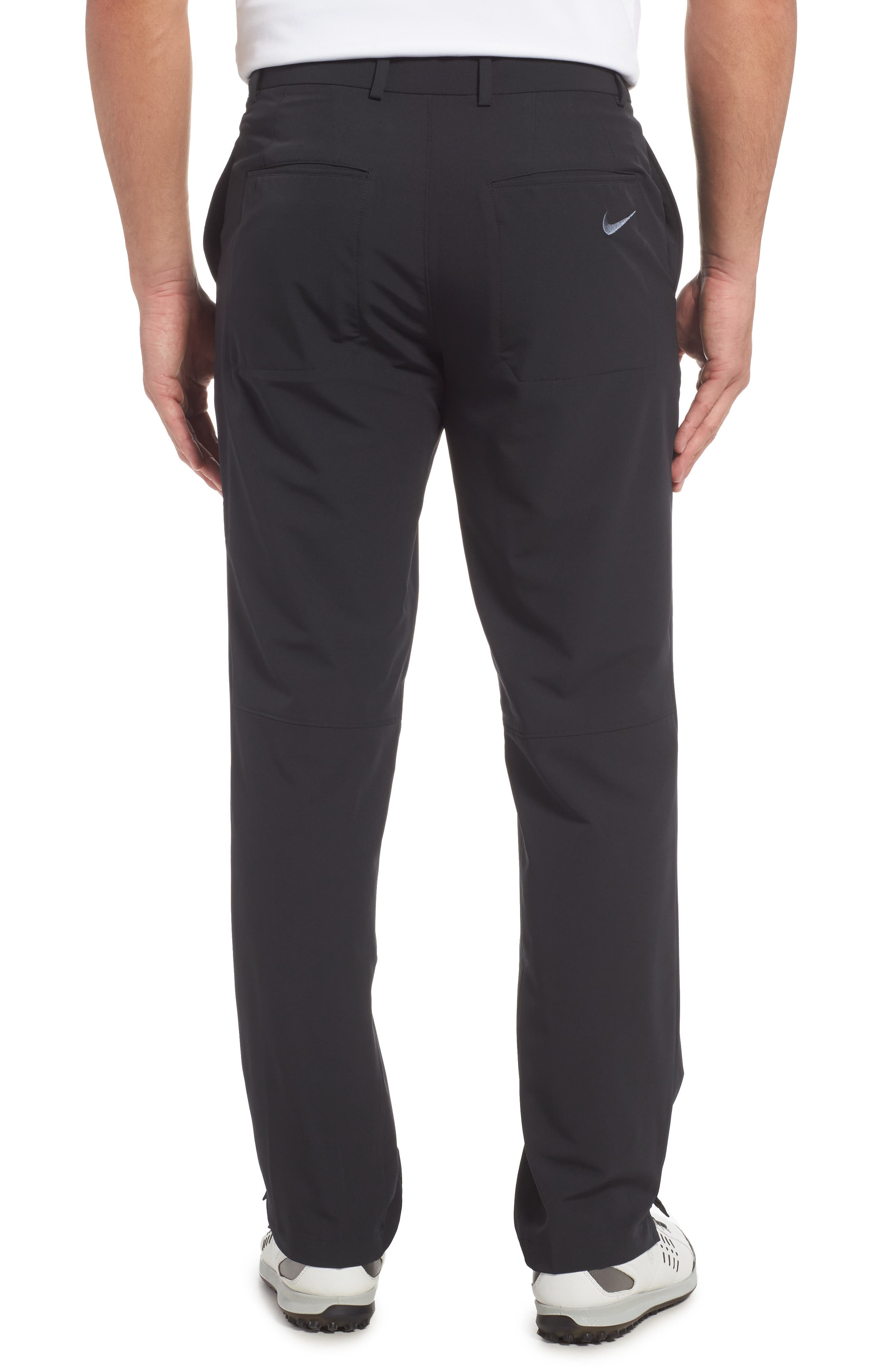 NIKE, Hybrid Flex Golf Pants, Alternate thumbnail 2, color, 010