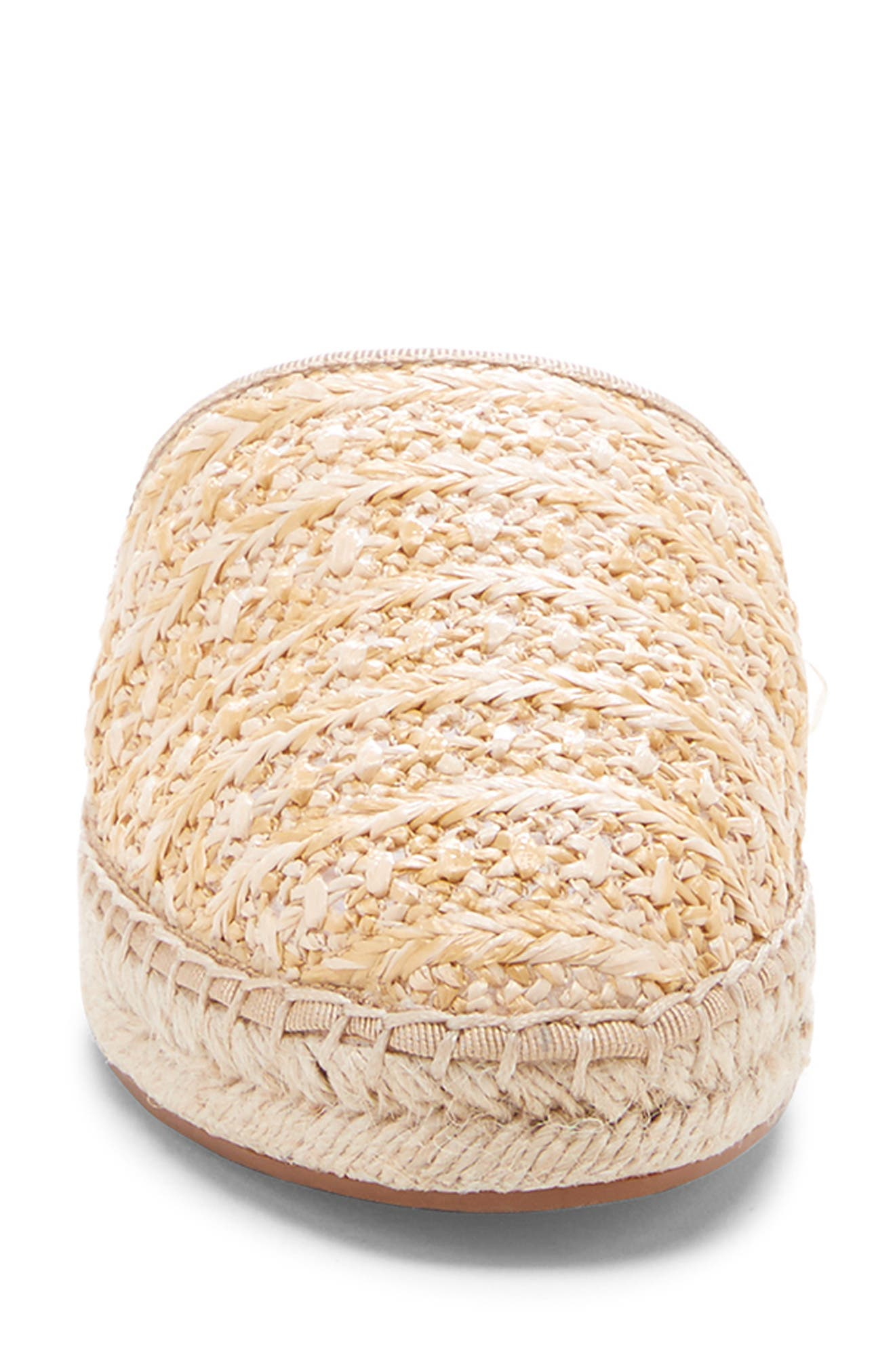SOLE SOCIETY, Sadelle Espadrille Mule, Alternate thumbnail 4, color, NATURAL FABRIC