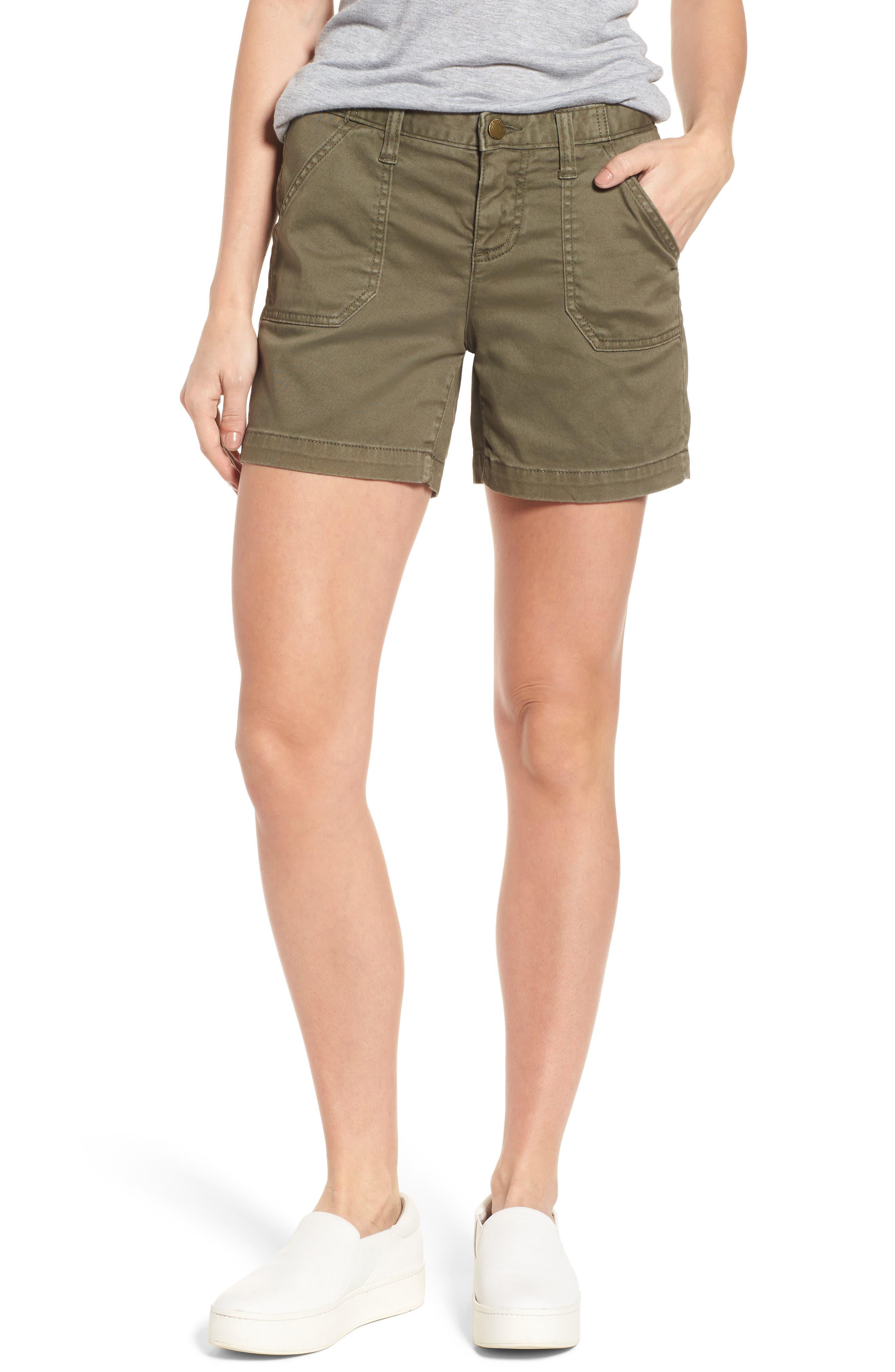 CASLON<SUP>®</SUP>, Utility Shorts, Main thumbnail 1, color, OLIVE SARMA