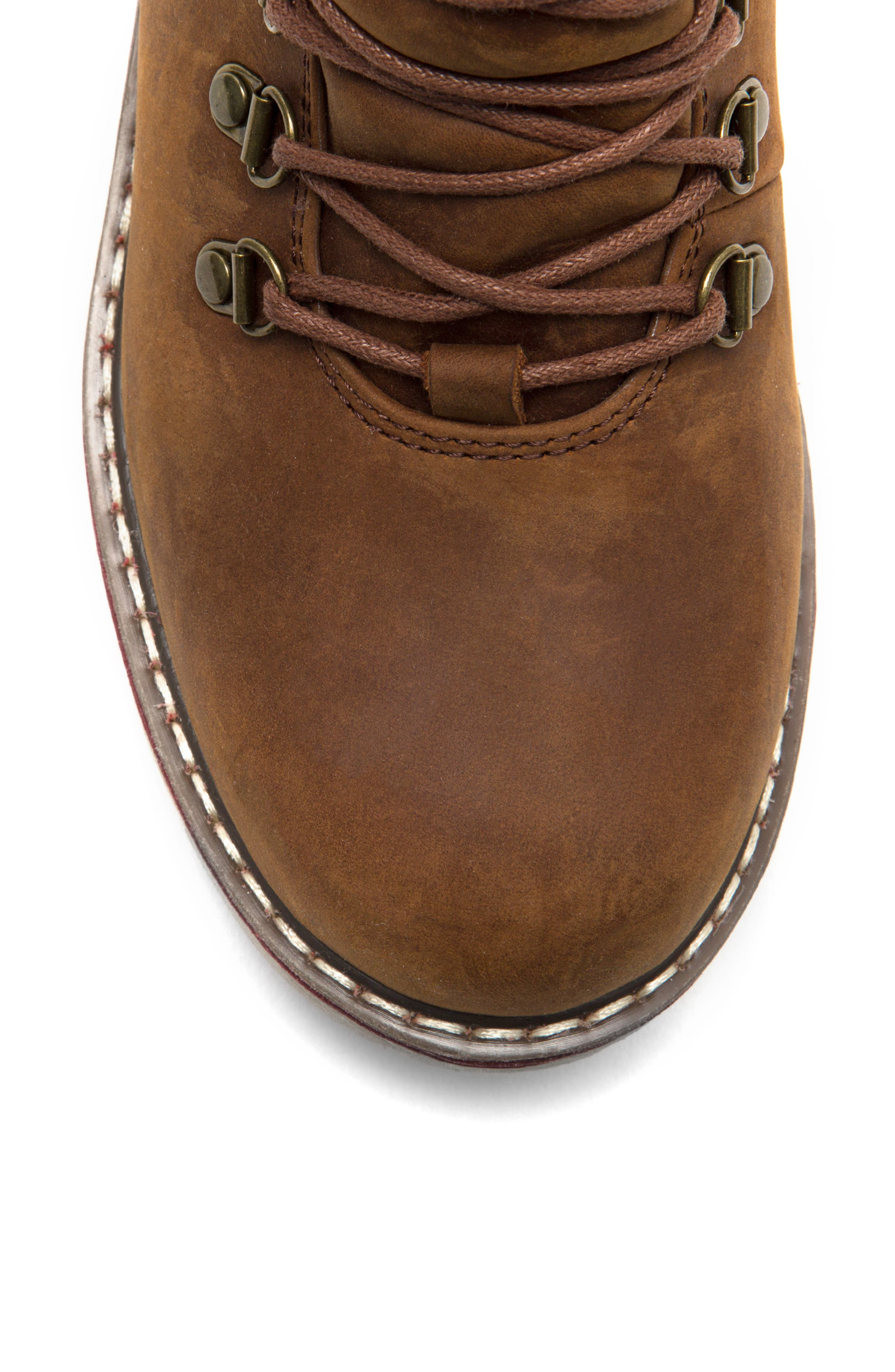 ROYAL CANADIAN, Lethbridge Waterproof Snow Boot with Genuine Shearling Cuff, Alternate thumbnail 4, color, COTTAGE BROWN LEATHER