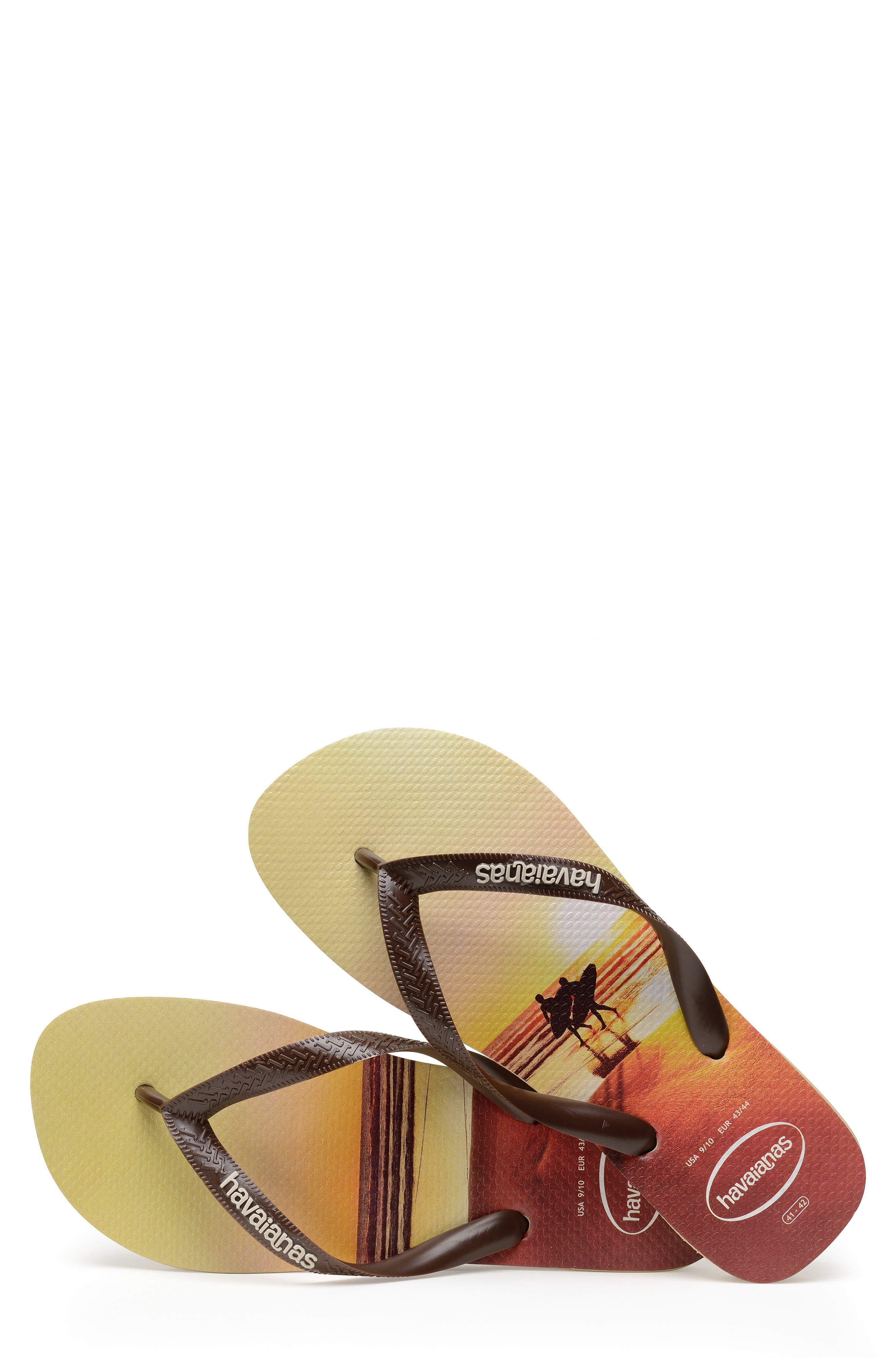 HAVAIANAS, 'Hype' Flip Flop, Alternate thumbnail 4, color, SAND GREY/ DARK BROWN