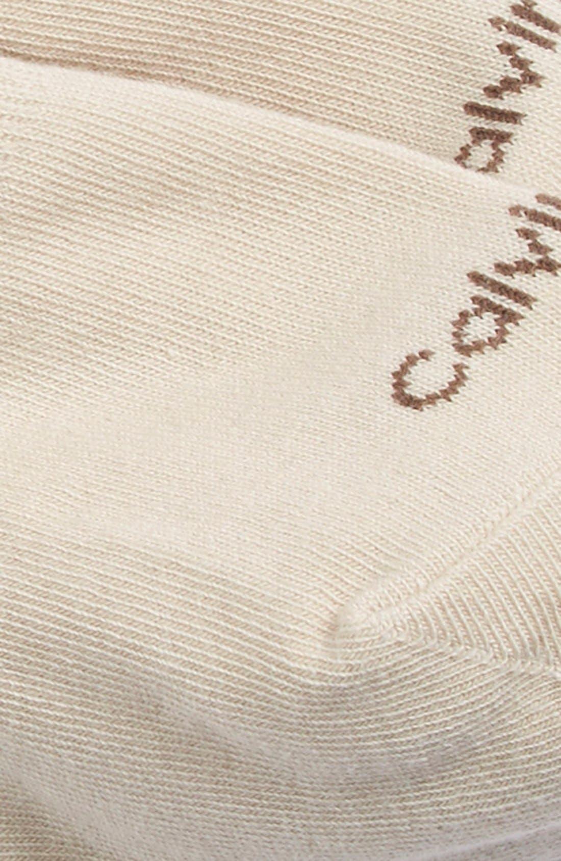 CALVIN KLEIN, No-Show Socks, Alternate thumbnail 2, color, 252
