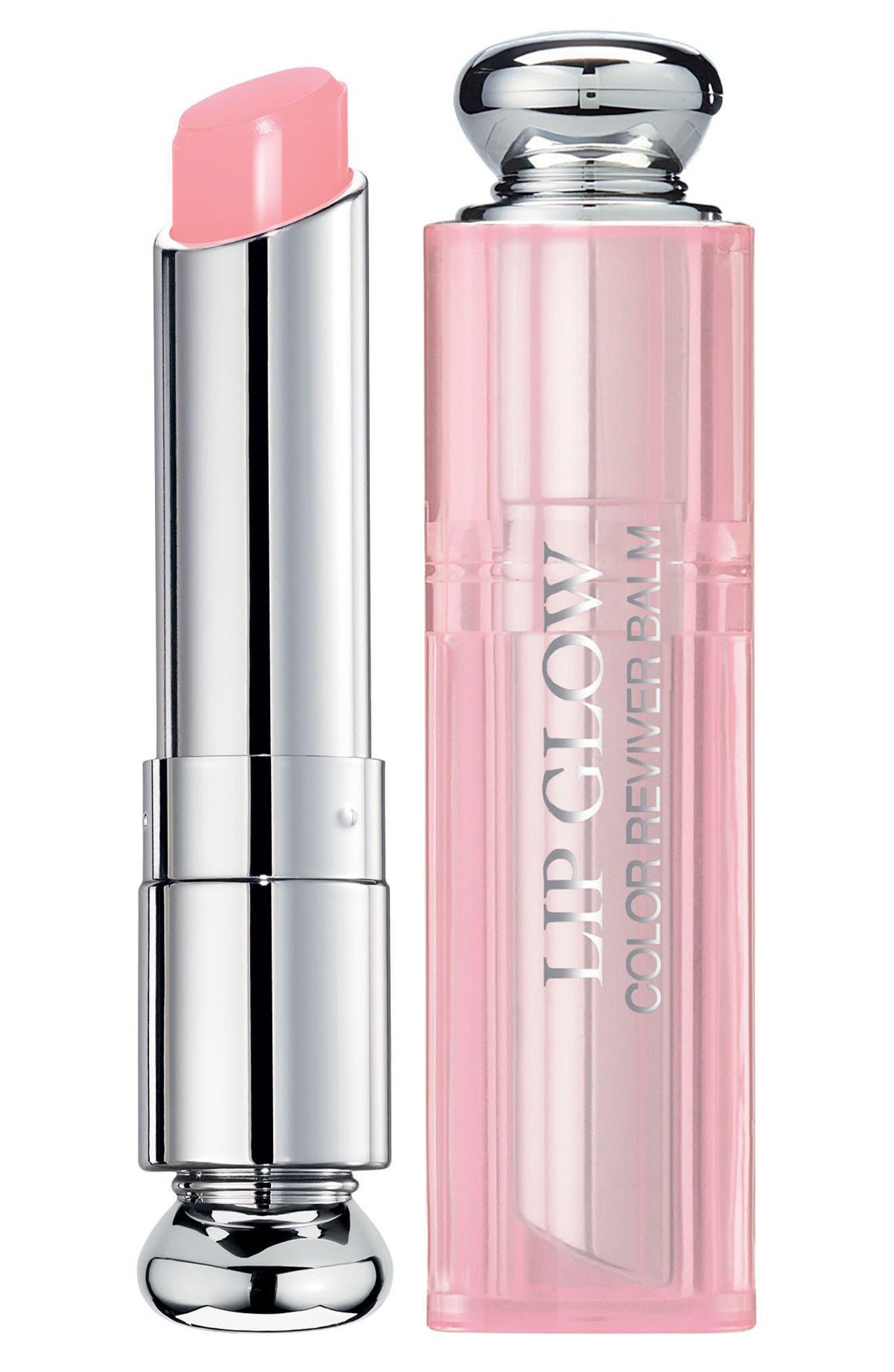DIOR, Addict Lip Glow Color Reviving Lip Balm, Main thumbnail 1, color, 001 PINK / GLOW