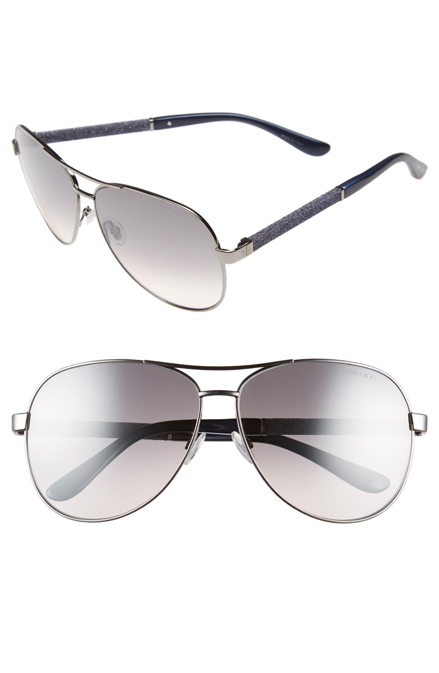 214353e7ad2 Jimmy Choo  Lexie  61mm Aviator Sunglasses