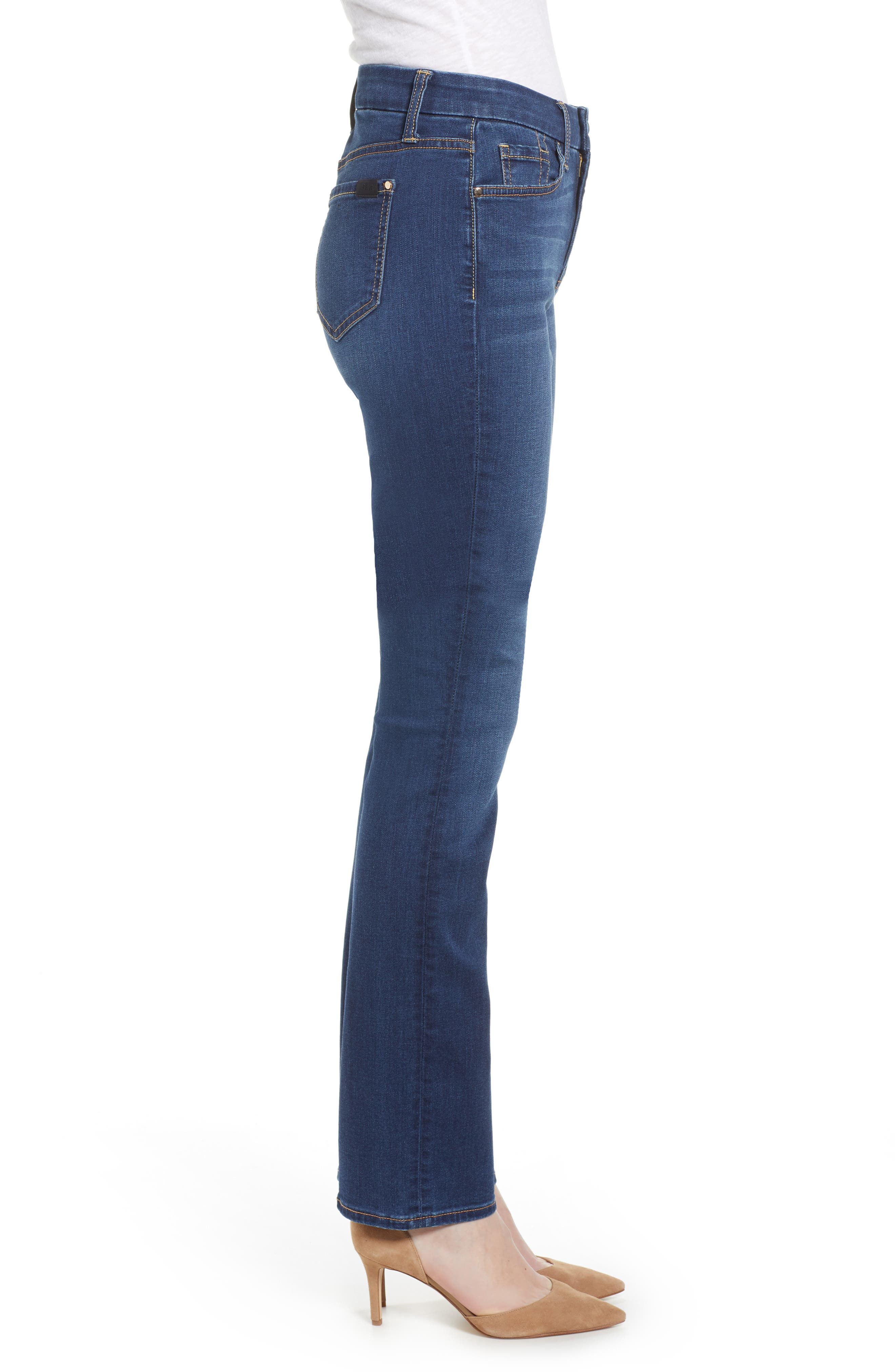 JEN7 BY 7 FOR ALL MANKIND, Slim Straight Leg Jeans, Alternate thumbnail 4, color, 404