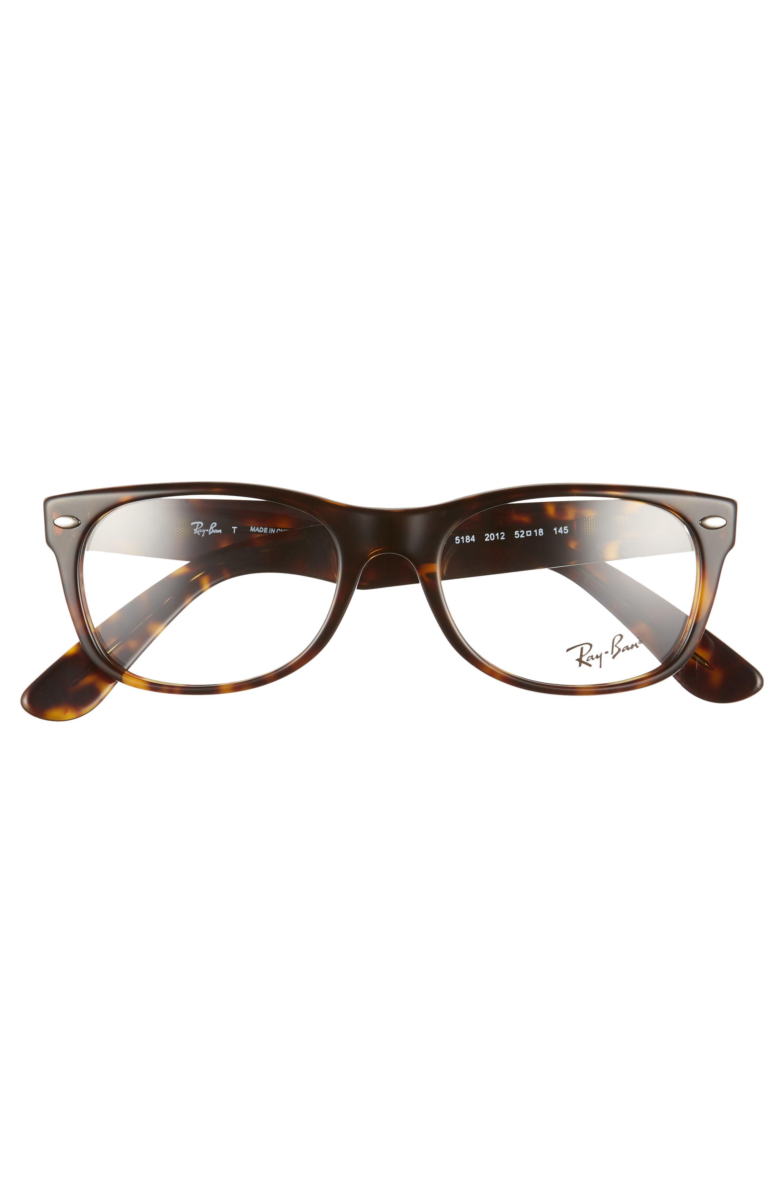 RAY-BAN, 52mm Optical Glasses, Alternate thumbnail 3, color, DARK HAVANA