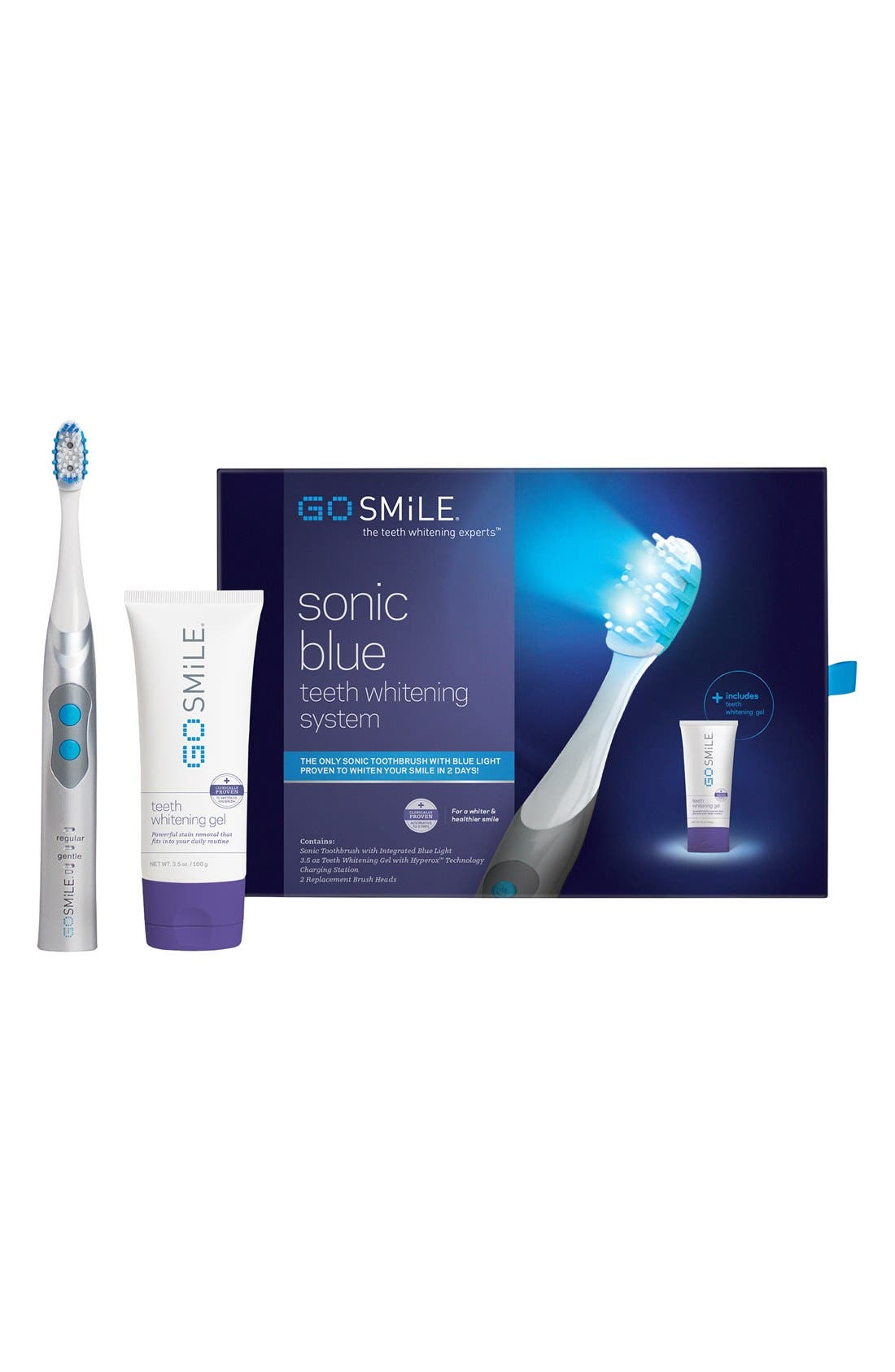 GO SMILE<SUP>®</SUP> 'Sonic Blue' Teeth Whitening System, Main, color, 100
