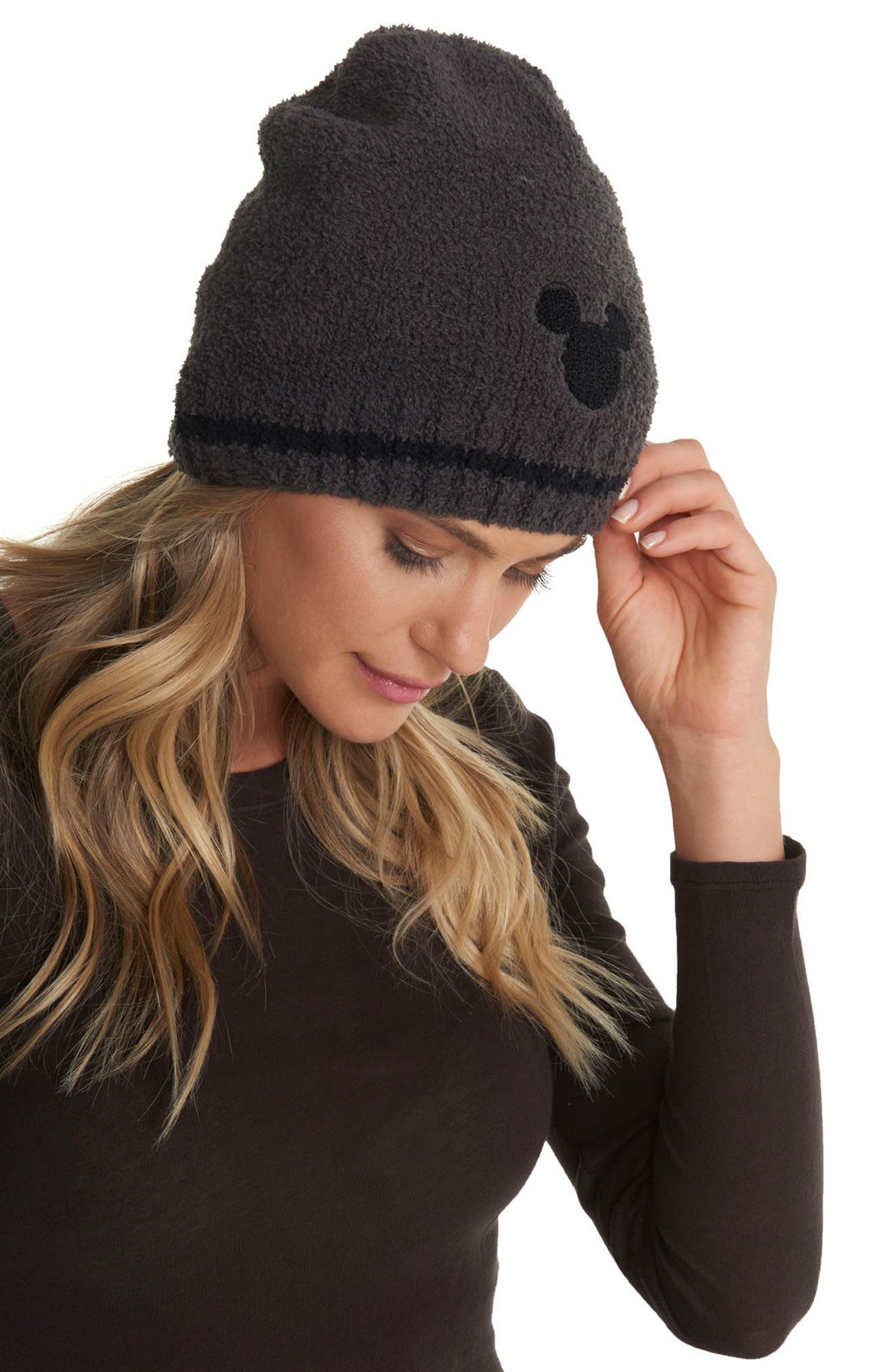 BAREFOOT DREAMS<SUP>®</SUP>, Mickey Mouse<sup>®</sup> Beanie, Alternate thumbnail 2, color, 024