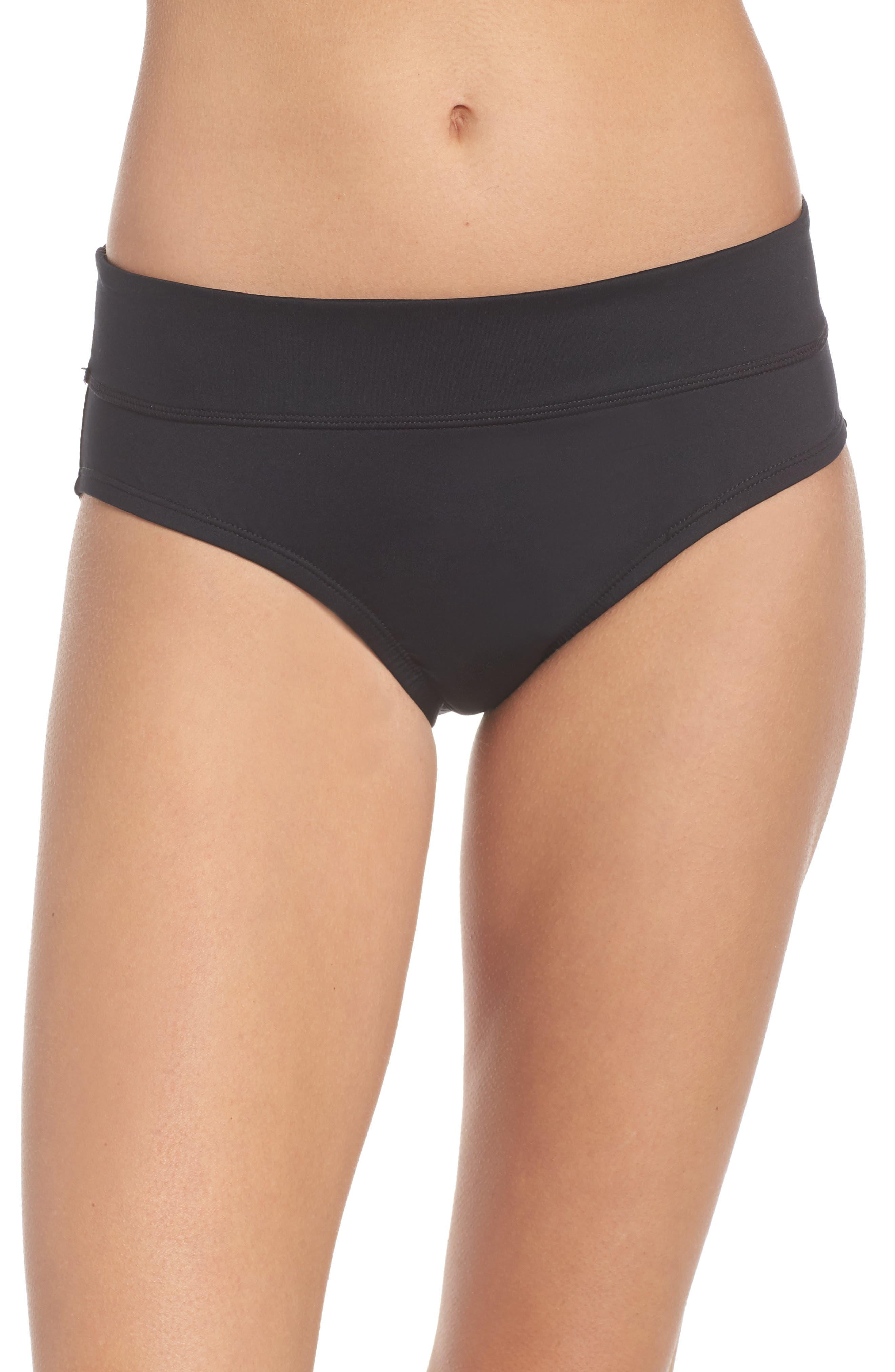 NIKE Full Bikini Bottoms, Main, color, BLACK