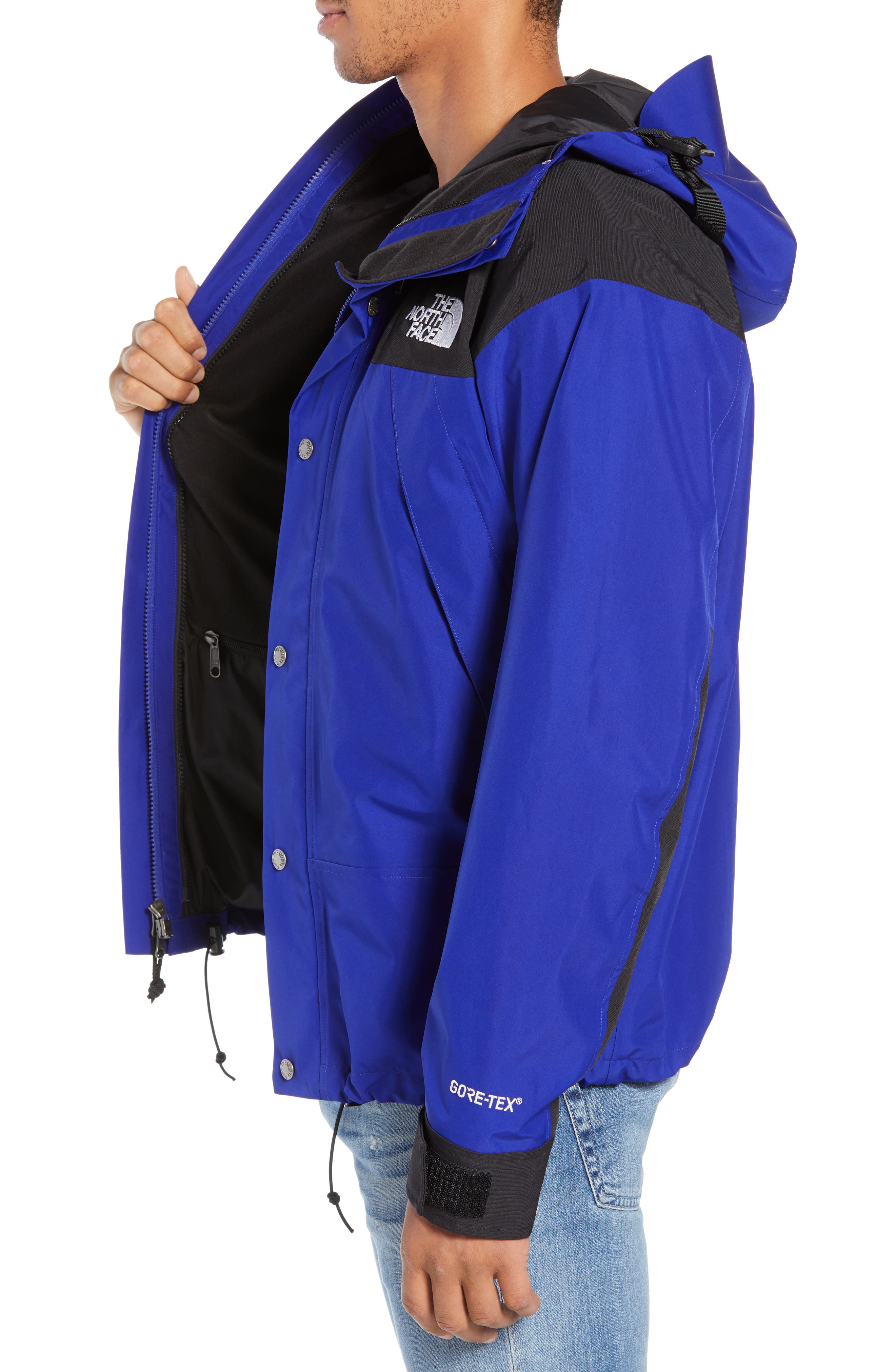 THE NORTH FACE, 1990 Mountain Hooded Jacket, Alternate thumbnail 4, color, AZTEC BLUE