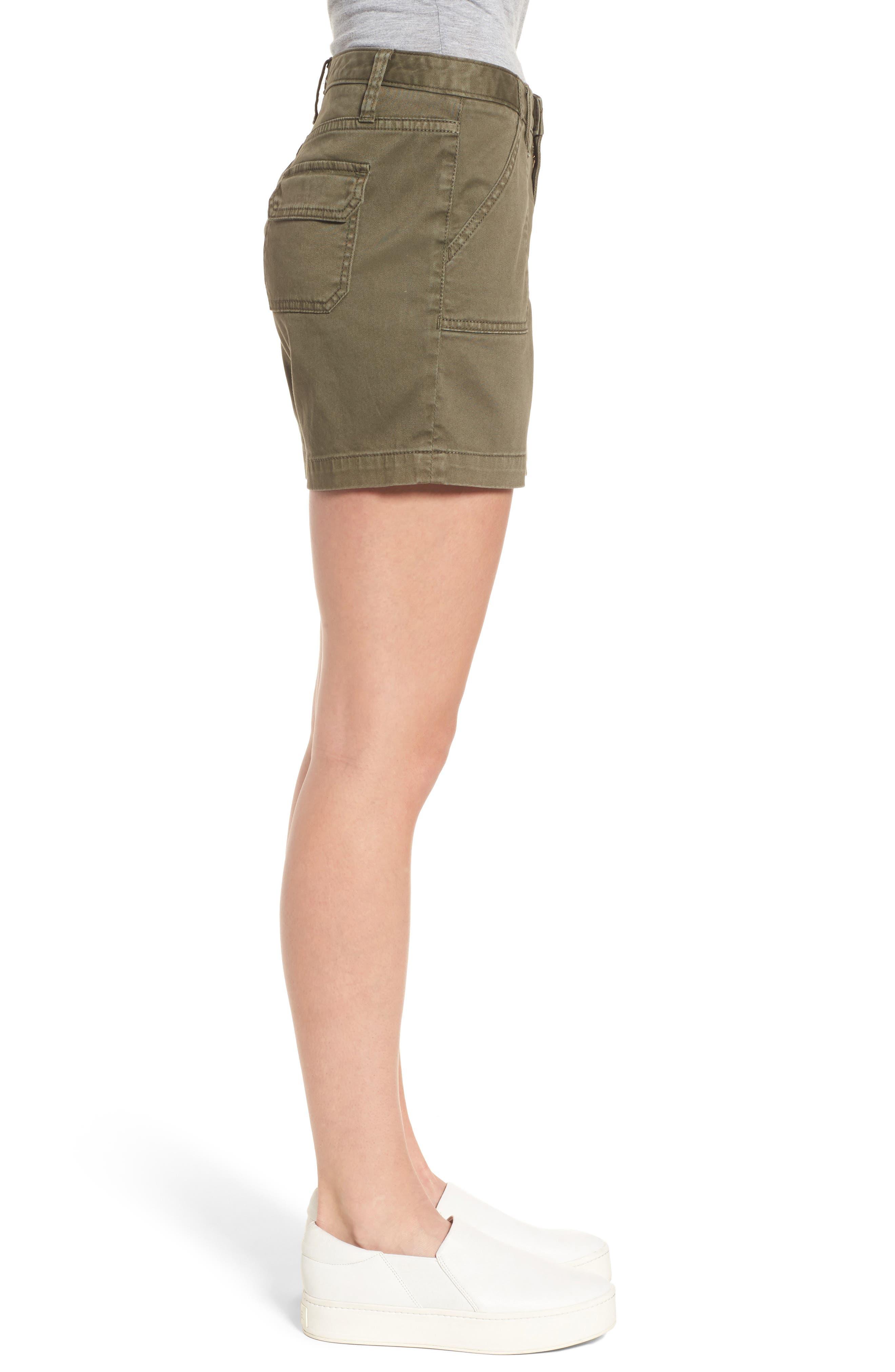 CASLON<SUP>®</SUP>, Utility Shorts, Alternate thumbnail 4, color, OLIVE SARMA