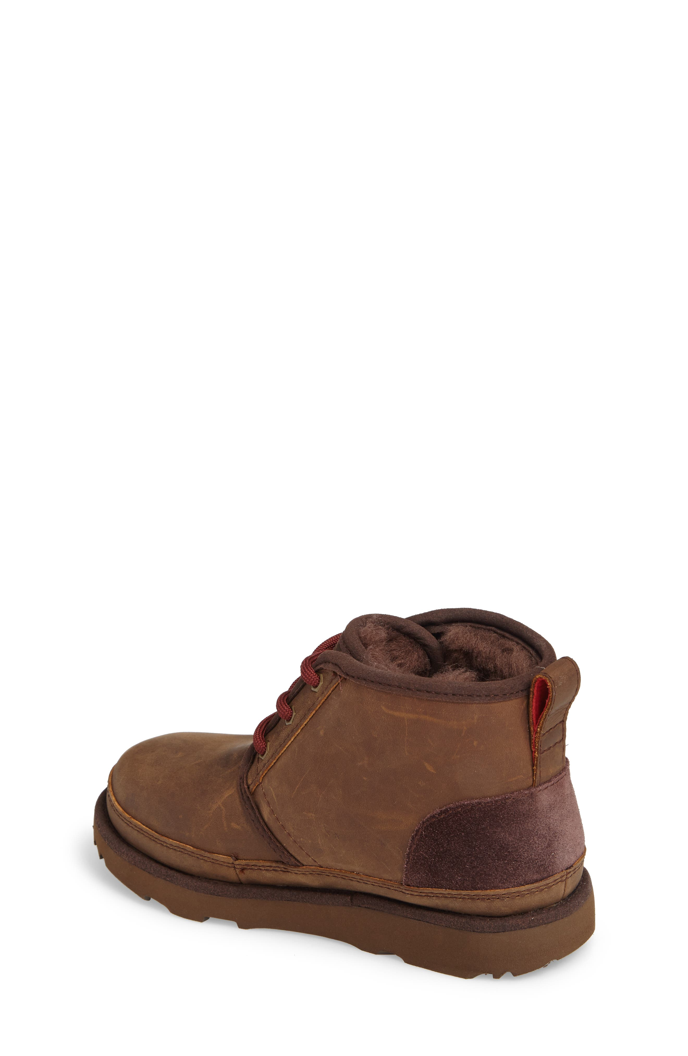 UGG<SUP>®</SUP>, Neumel II Waterproof Chukka, Alternate thumbnail 2, color, GRIZZLY
