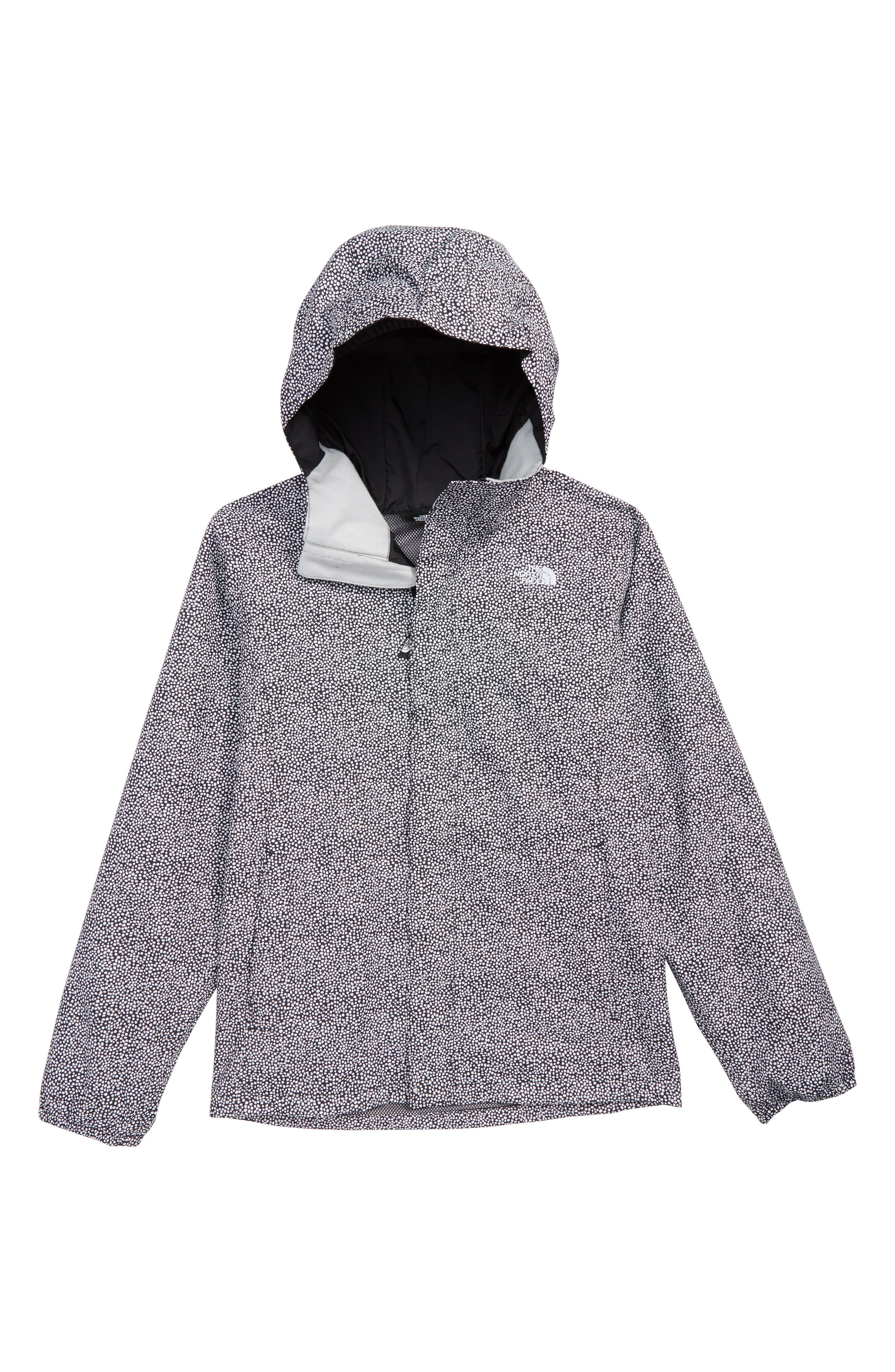 THE NORTH FACE, Resolve Reflective Waterproof Jacket, Main thumbnail 1, color, TNF WHITE MINI DOT PRINT