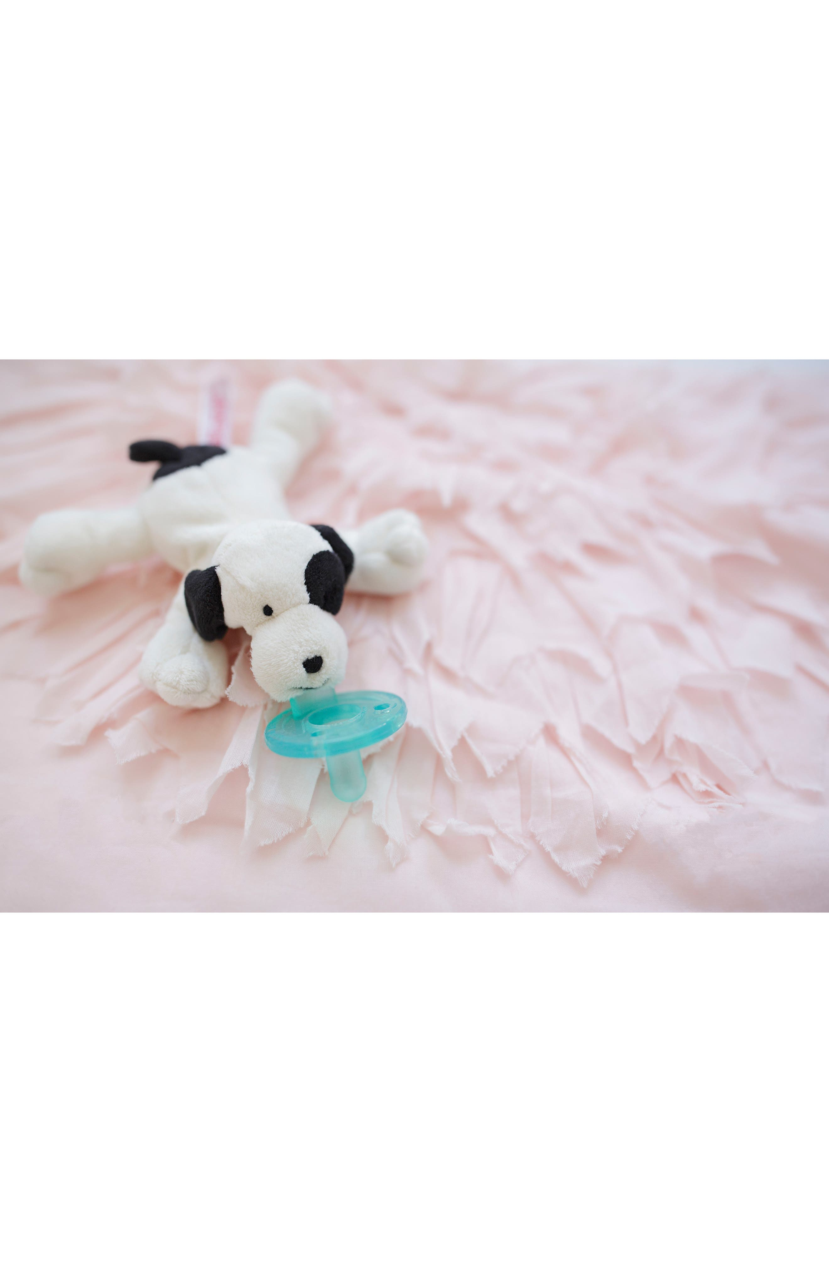 WUBBANUB<SUP>™</SUP>, Puppy Pacifier Toy, Alternate thumbnail 5, color, IVORY/ BLACK
