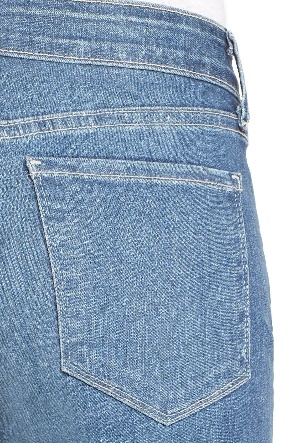 NYDJ, Marilyn Stretch Straight Leg Jeans, Alternate thumbnail 6, color, HEYBURN