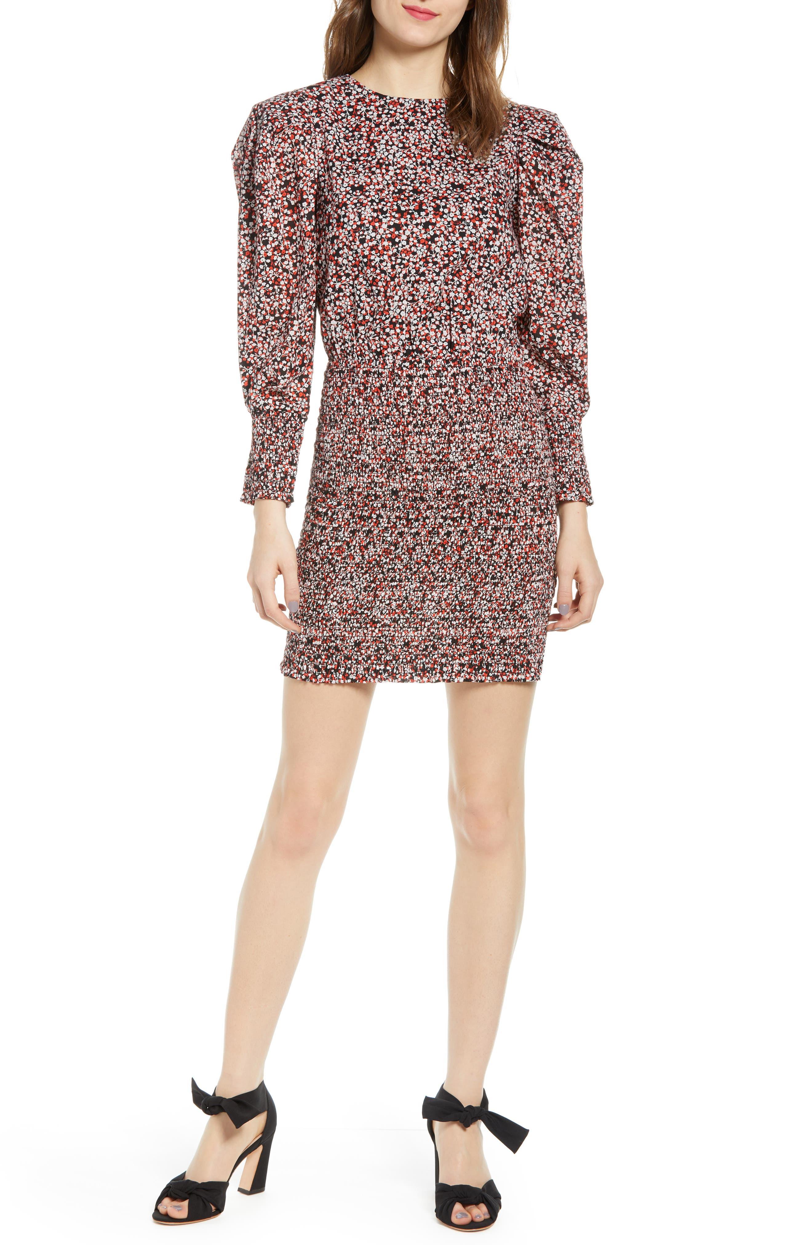 Rebecca Minkoff Tabby Long Sleeve Minidress, Red
