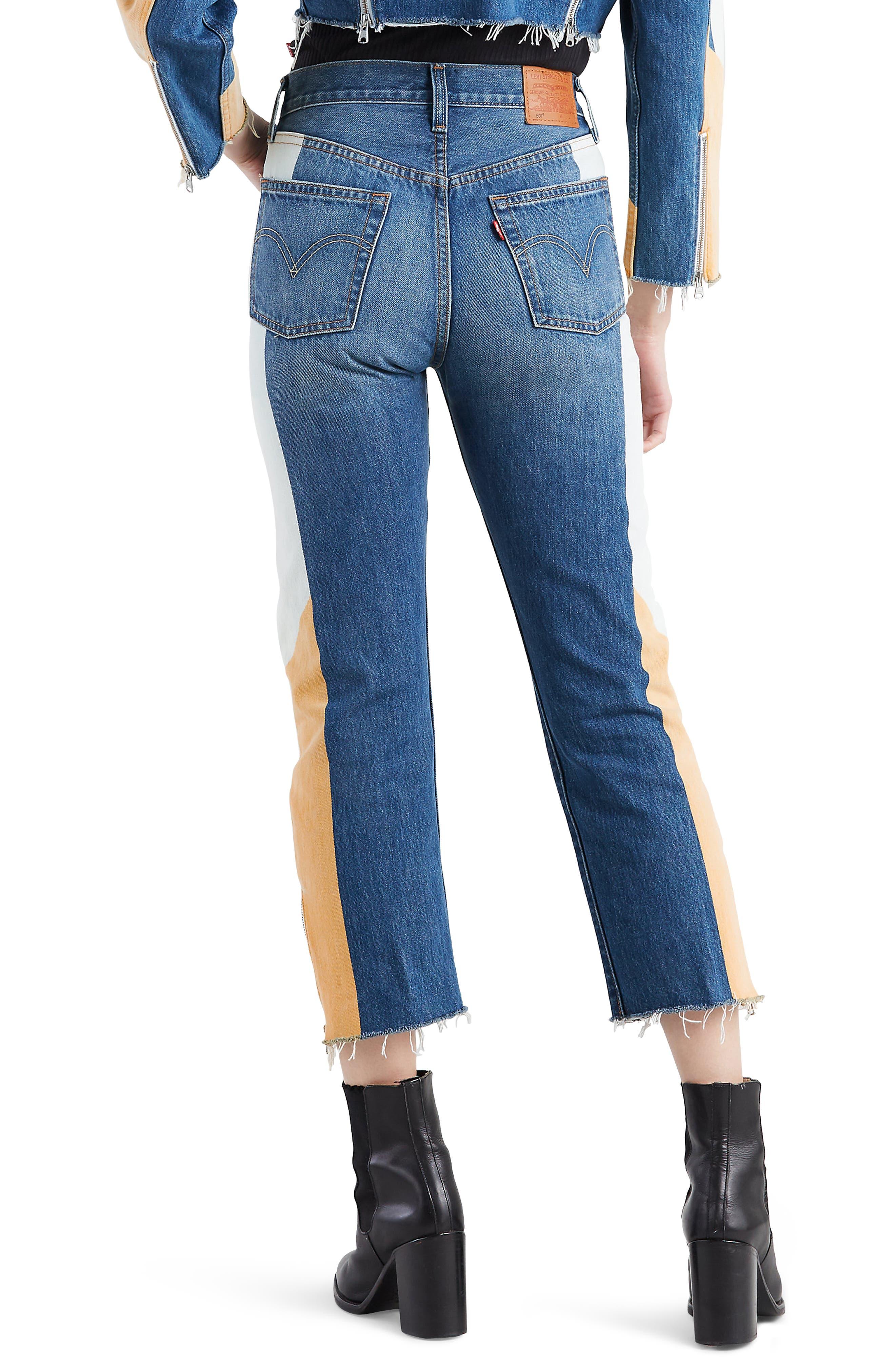 LEVI'S<SUP>®</SUP>, 501<sup>®</sup> Moto Crop Jeans, Alternate thumbnail 2, color, SHOW TEETH