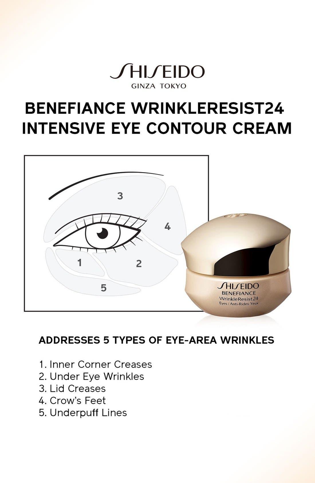 SHISEIDO, Benefiance WrinkleResist24 Intensive Eye Contour Cream, Alternate thumbnail 9, color, NO COLOR