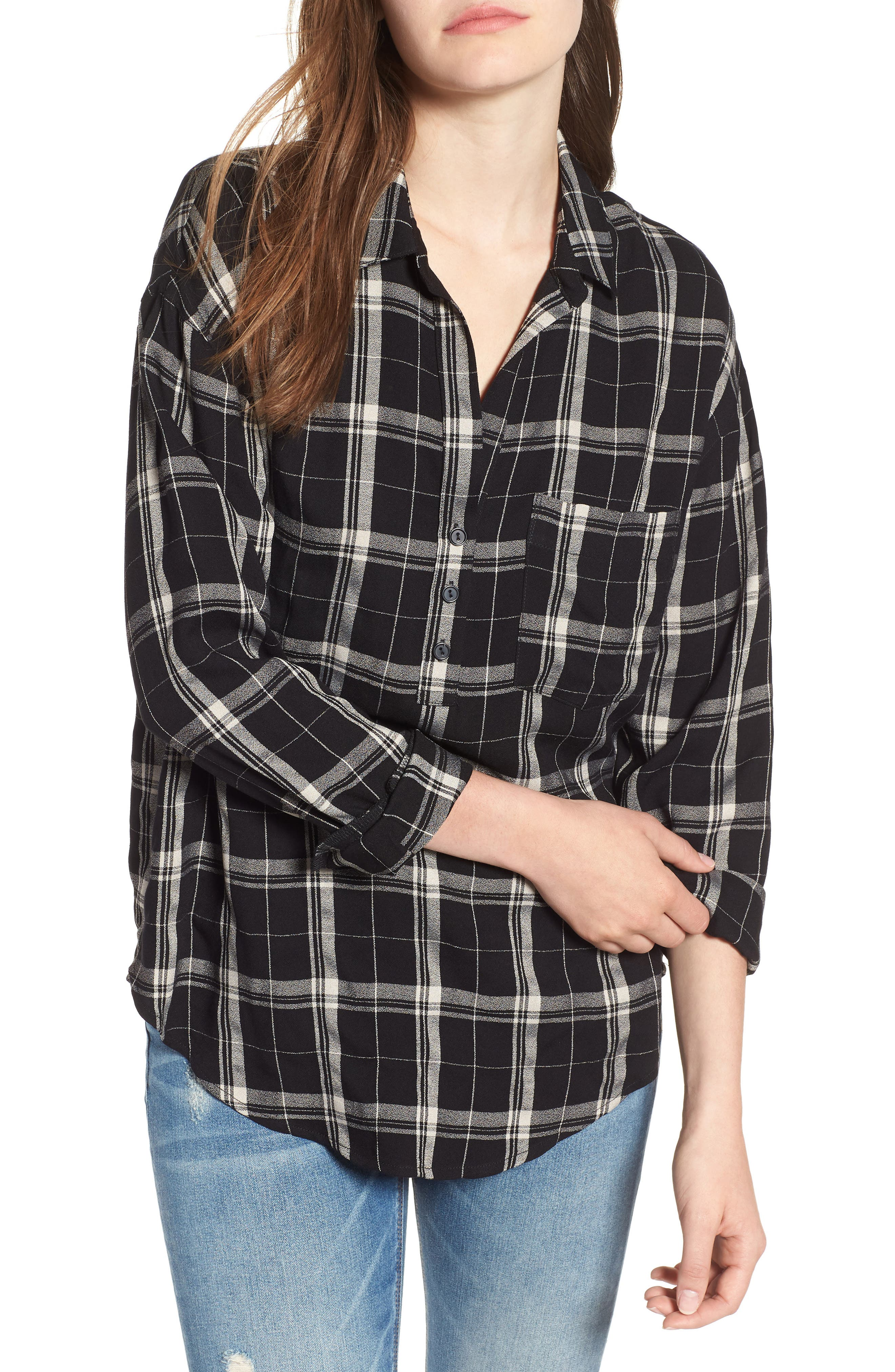 --- Slouchy Pocket Henley, Main, color, 001