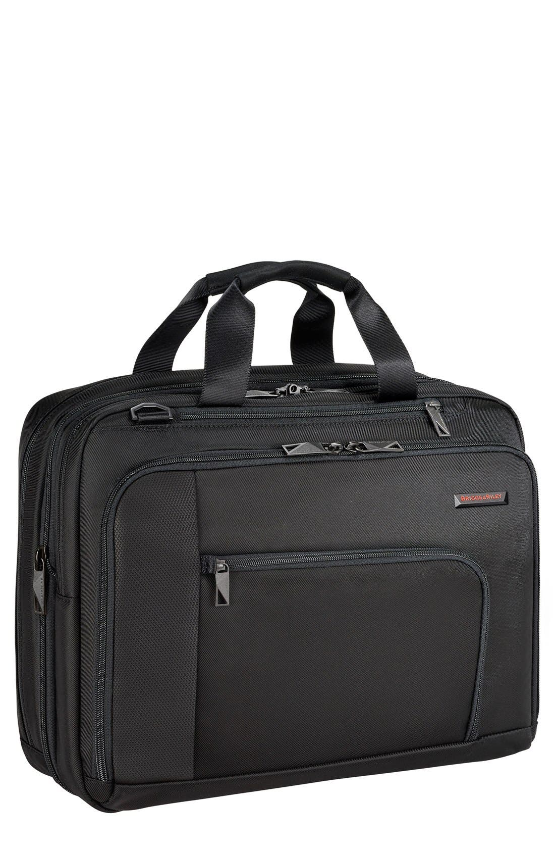 BRIGGS & RILEY Verb - Adapt Expandable Briefcase, Main, color, BLACK