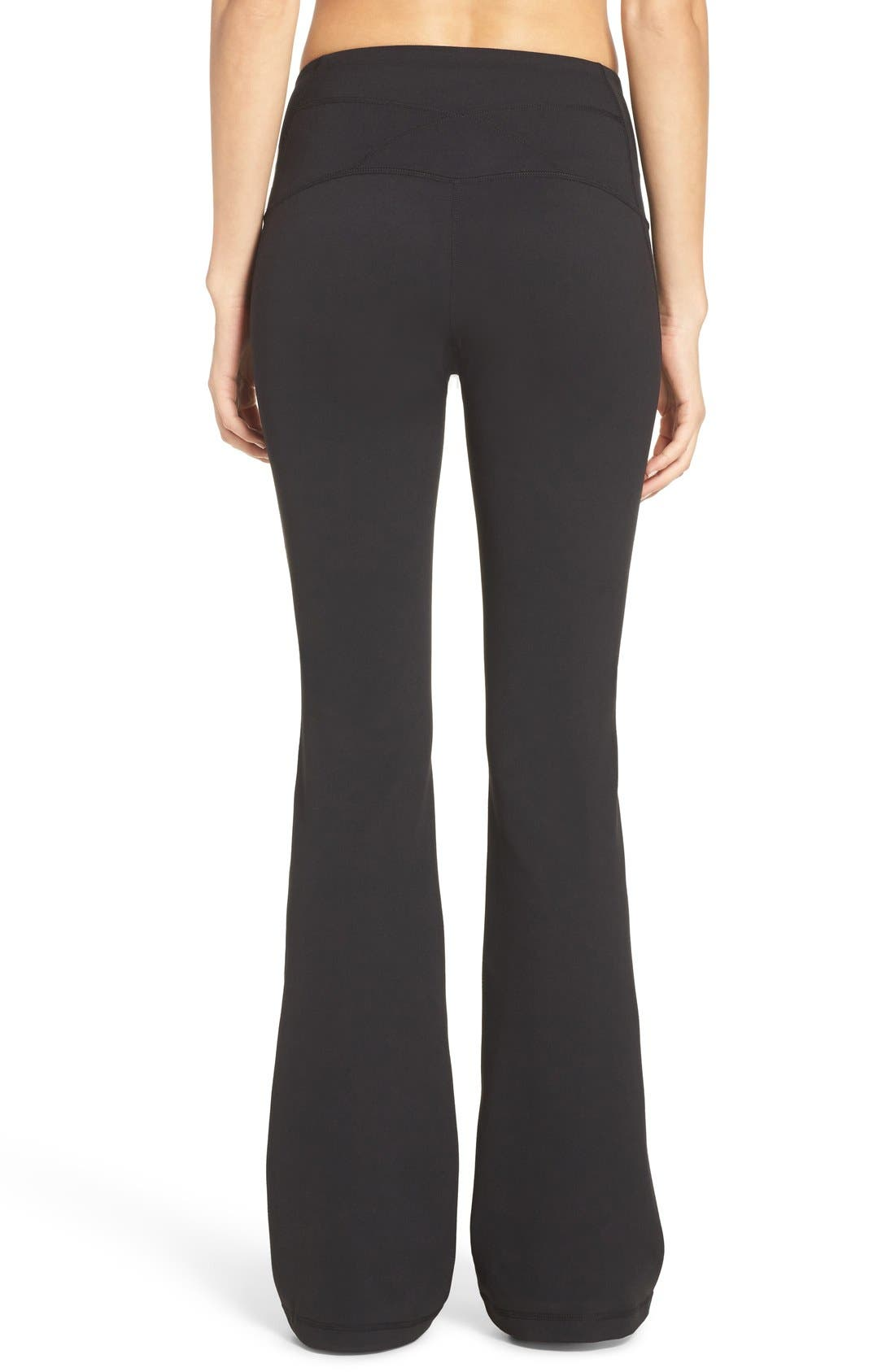 ZELLA, Barely Flare Live in High Waist Pants, Alternate thumbnail 5, color, BLACK