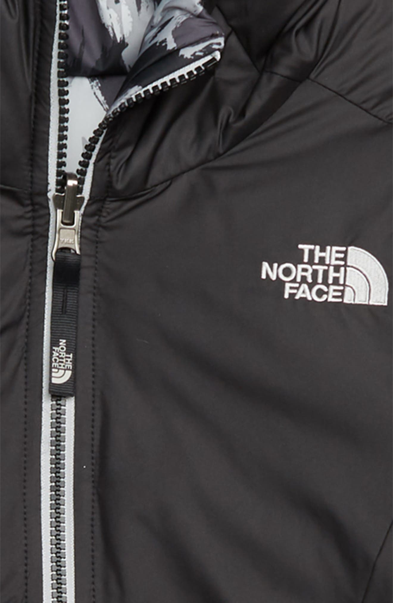THE NORTH FACE, Perrito Reversible Water-Repellent Hooded Jacket, Alternate thumbnail 3, color, 001