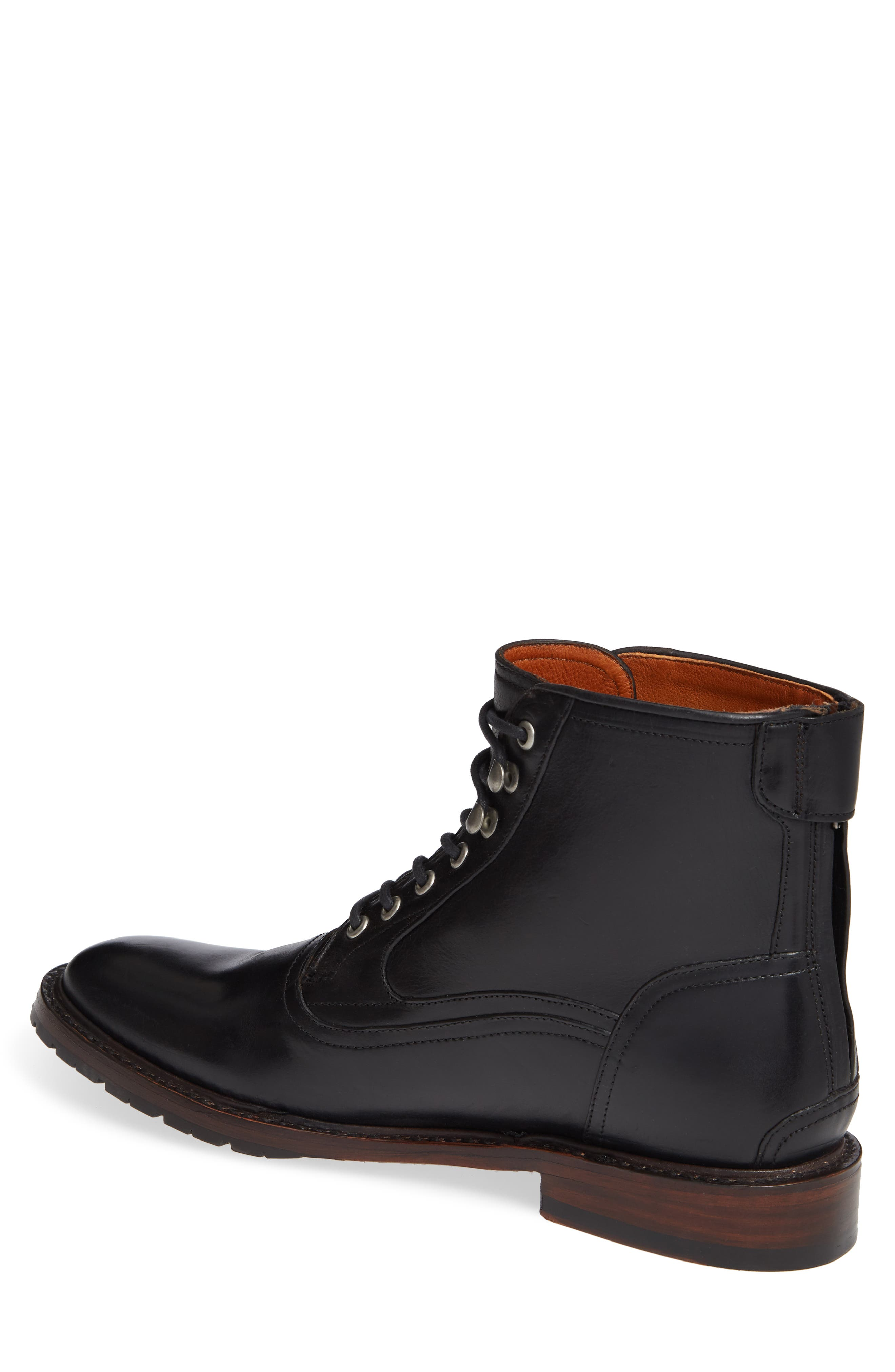 TWO24, by Ariat Fairfax Plain Toe Boot, Alternate thumbnail 2, color, BLACK LEATHER