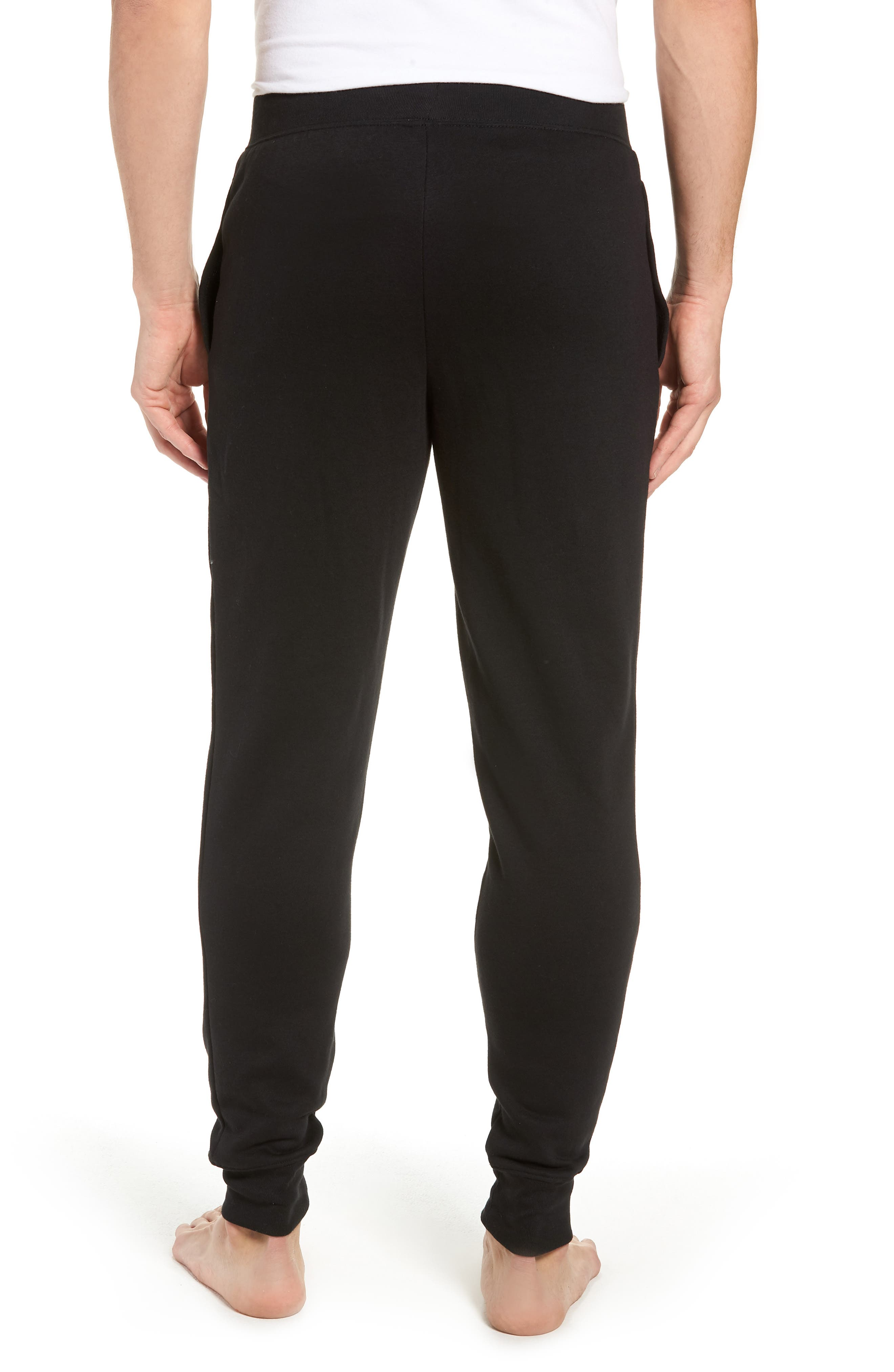 POLO RALPH LAUREN, Brushed Jersey Cotton Blend Jogger Pants, Alternate thumbnail 2, color, POLO BLACK